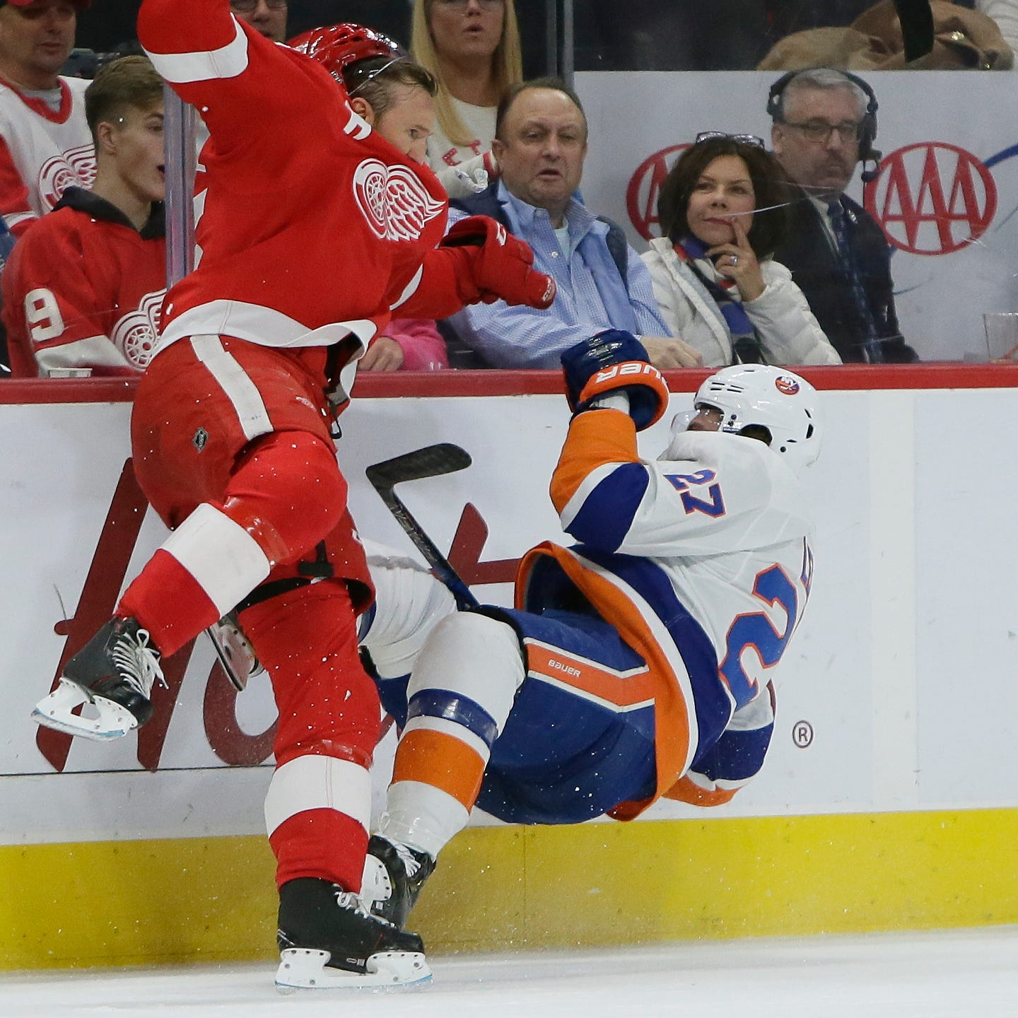 Kronwall turns back the clock with his play, devastating hit
