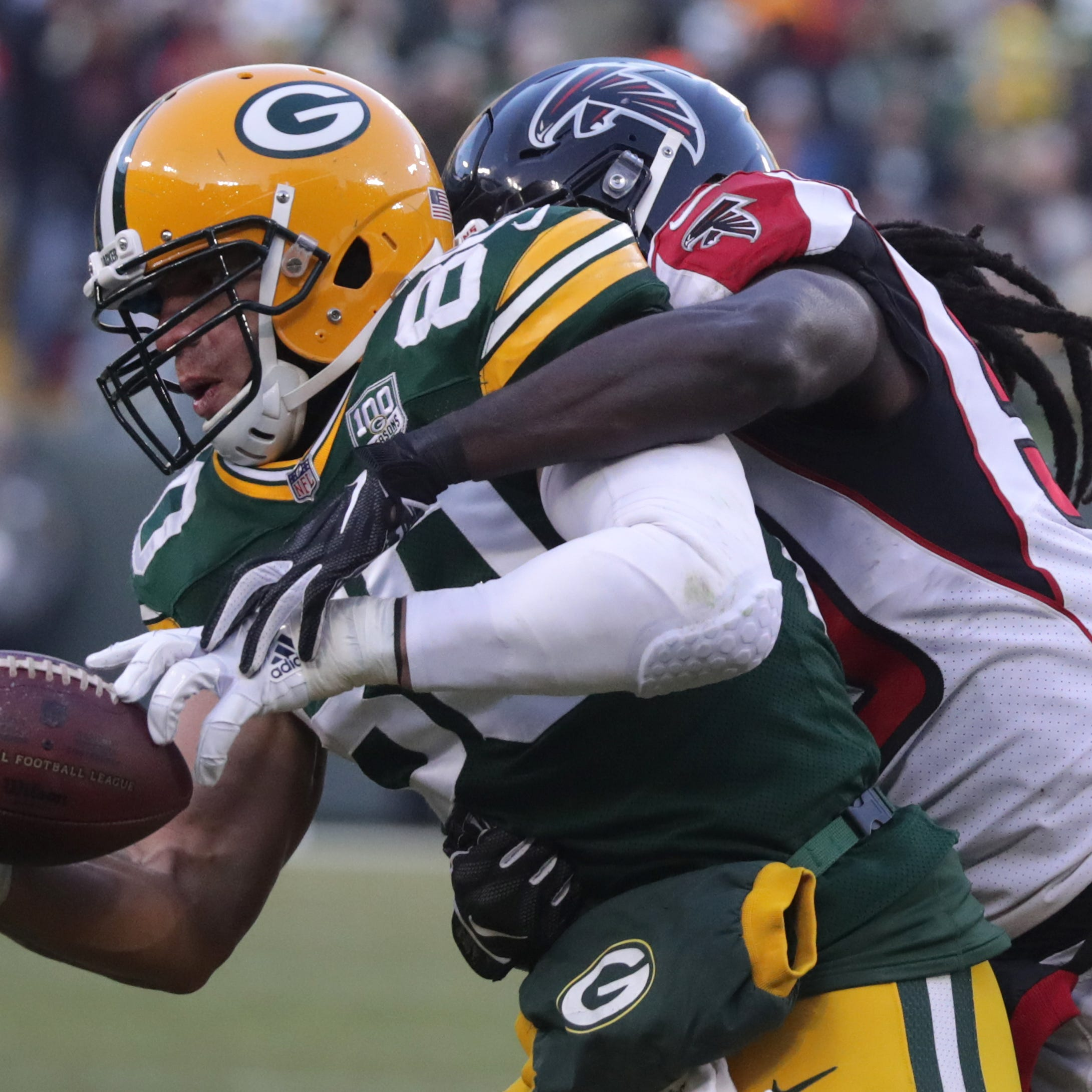 4 Downs: Packers tight end Jimmy Graham ineffective playing with broken thumb
