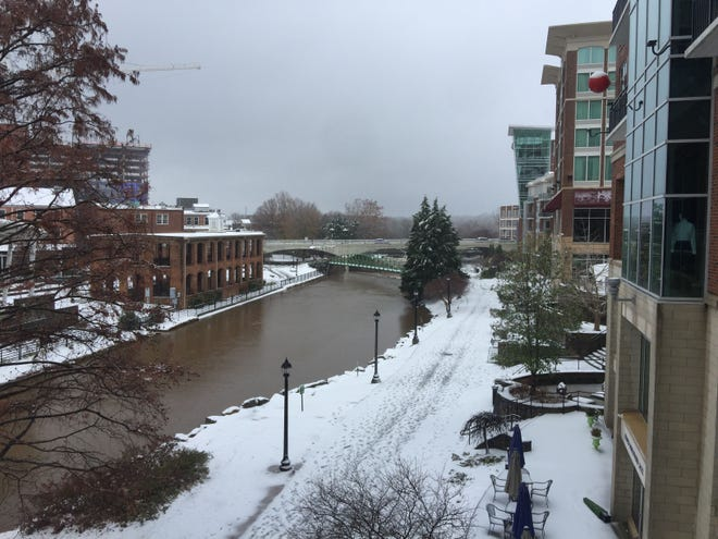 Downtown Greenville river walk on Sunday, Dec. 9, 2018.