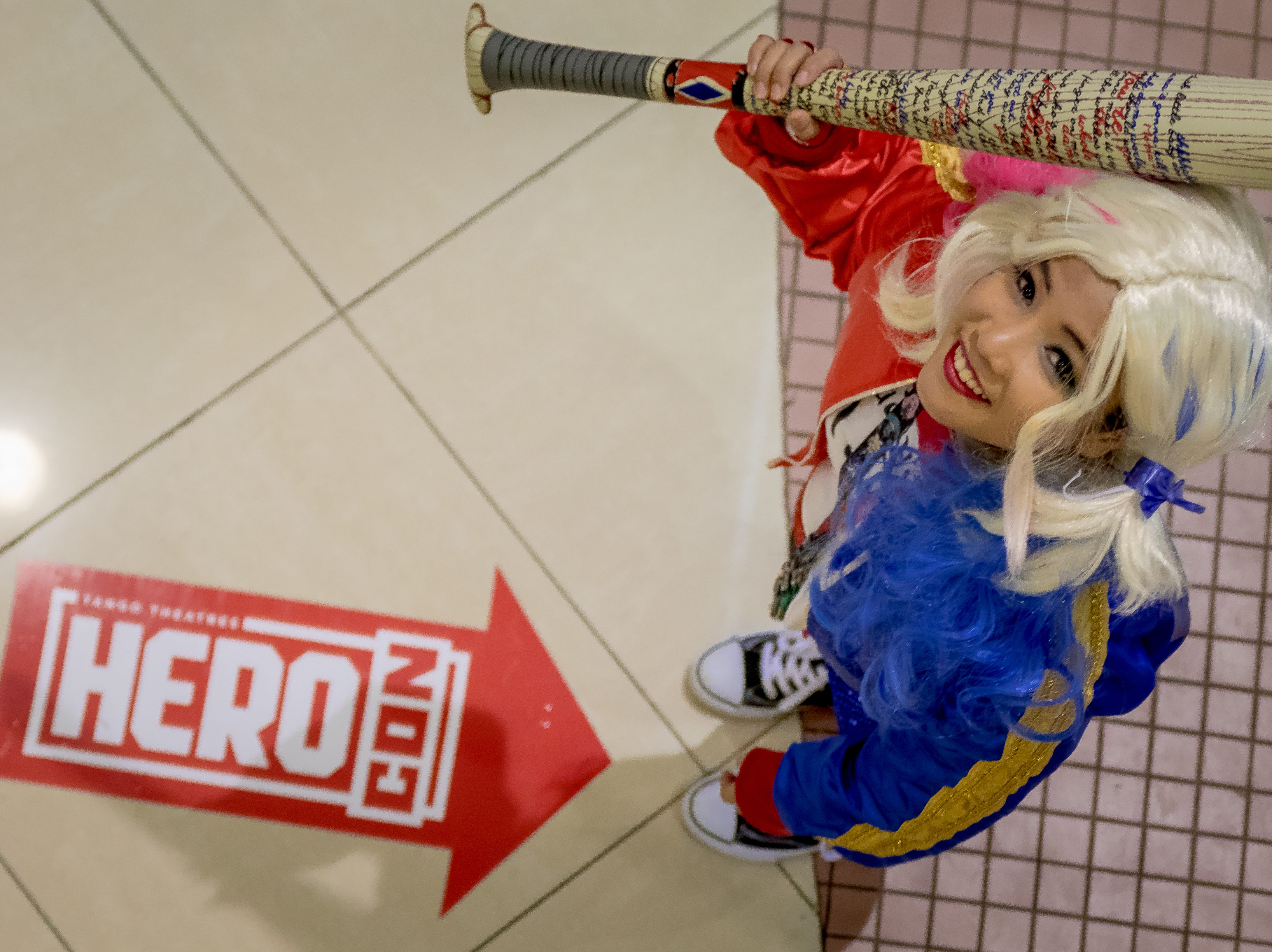 Riza Henderson is Harley Quinn from Suicide Squad during the Herocon event held at Agana Shopping Center on Dec. 9.