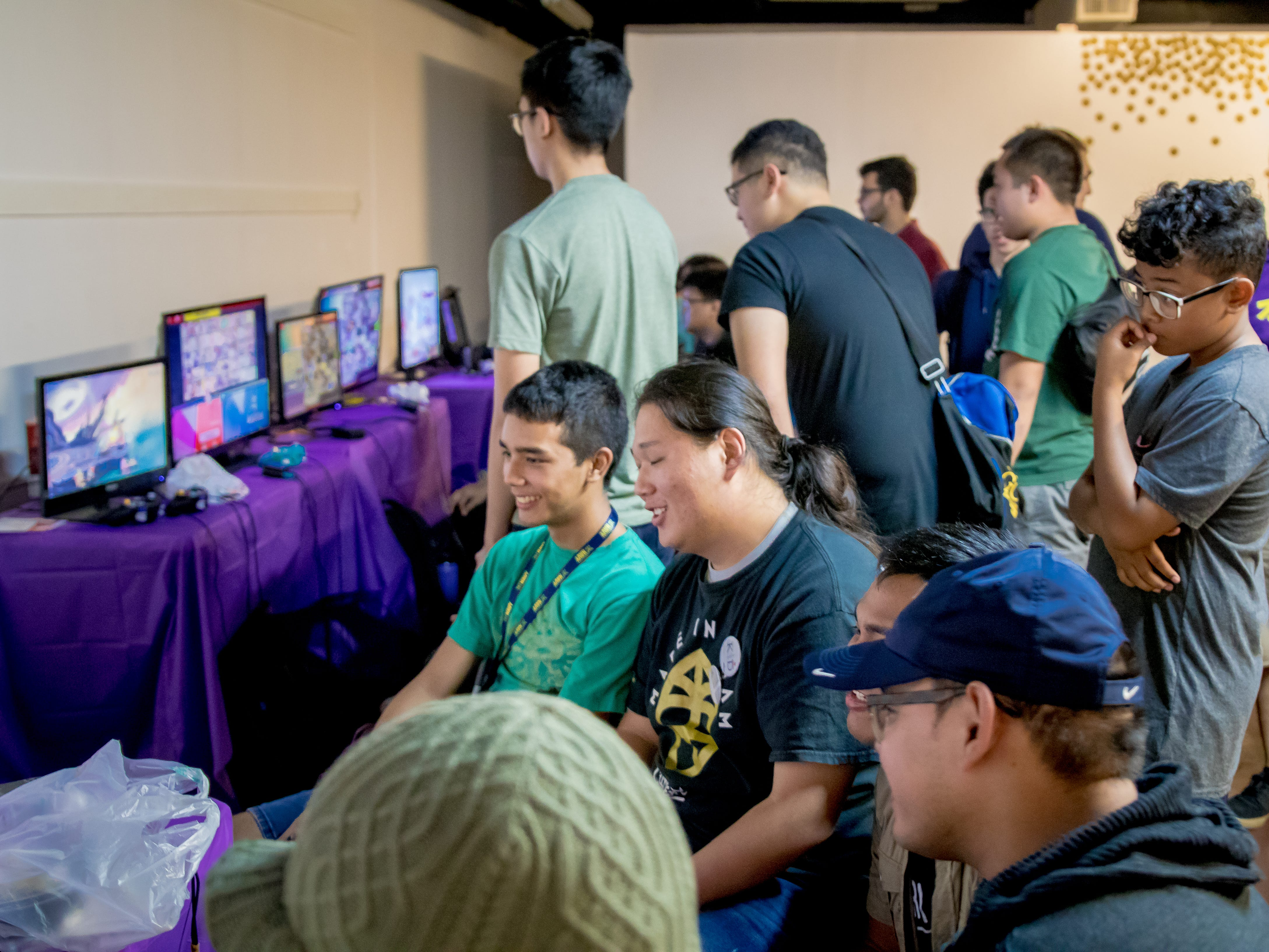 Gamers battle each other during the Herocon event held at Agana Shopping Center on Dec. 9.
