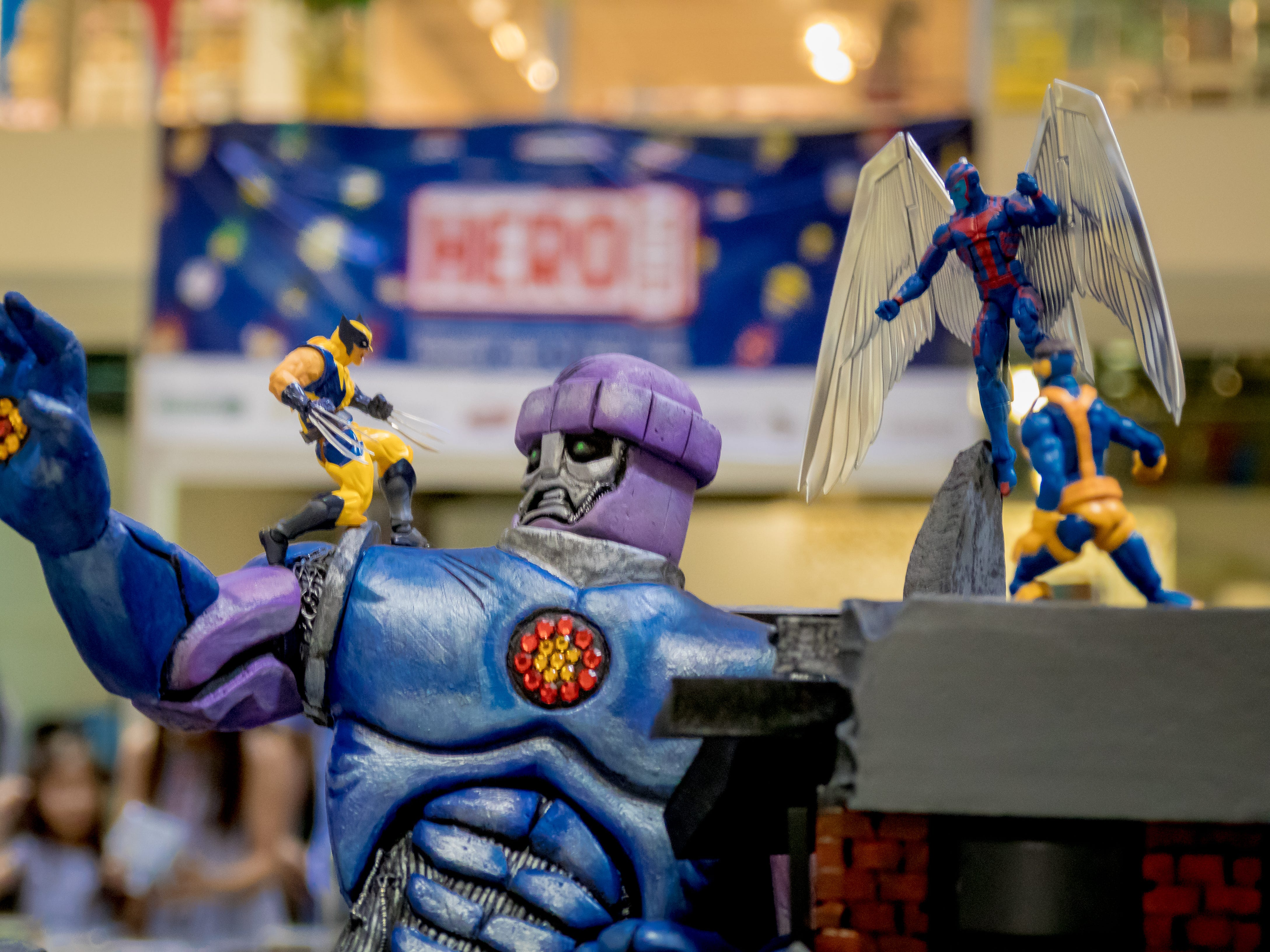 Various action figures are displayed during the Herocon event held at Agana Shopping Center on Dec. 9.