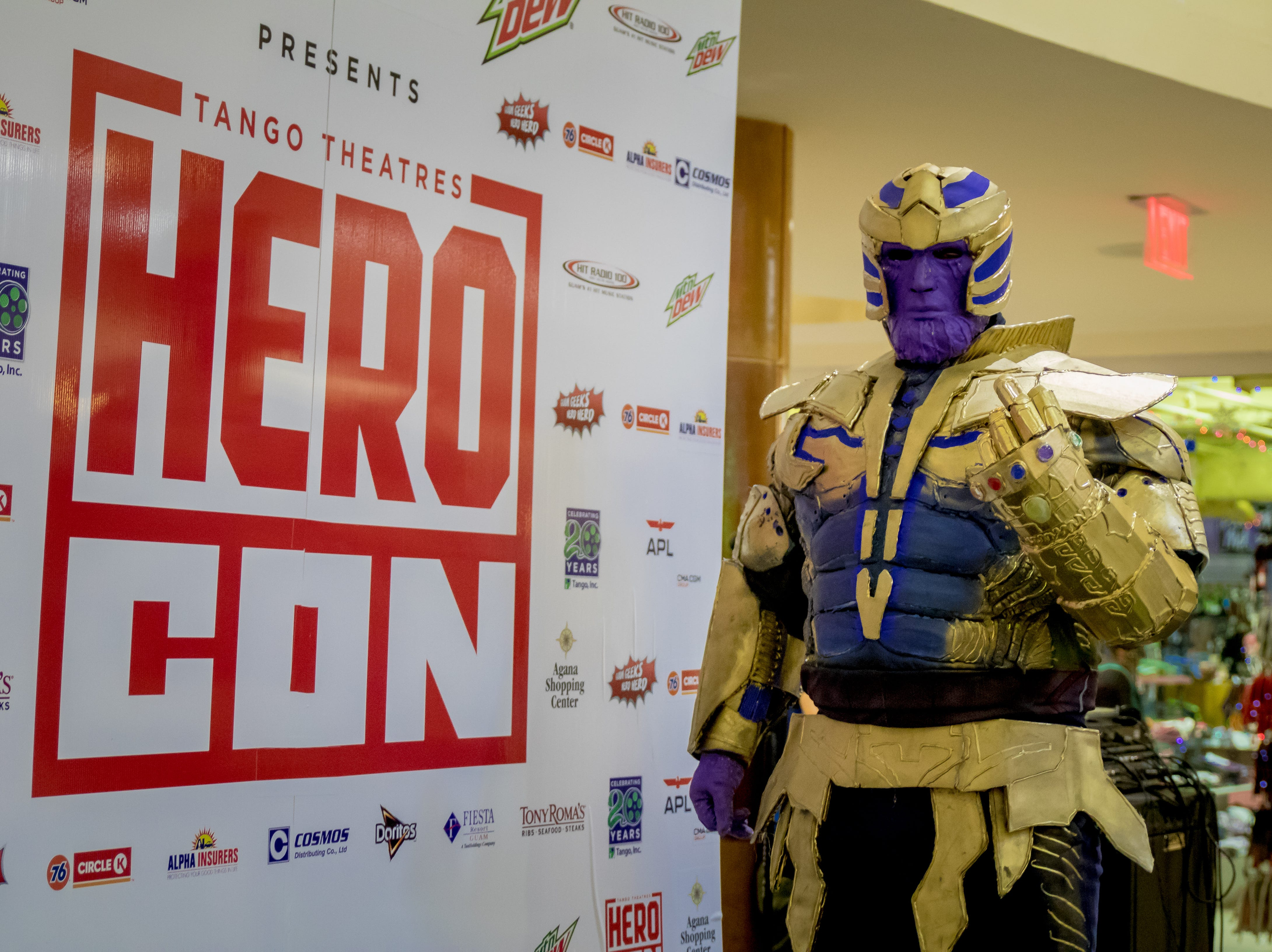 Zachary Salas cosplay thanos and pose during the Herocon event held at Agana Shopping Center on Dec. 9.