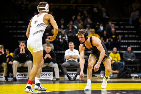 Iowa's Max Murin is 9-2 and ranked No. 13 nationally at 141 pounds this season. The redshirt freshman has a big match coming up against Minnesota's Mitch McKee this Sunday when the Hawkeyes wrestle at Minnesota.