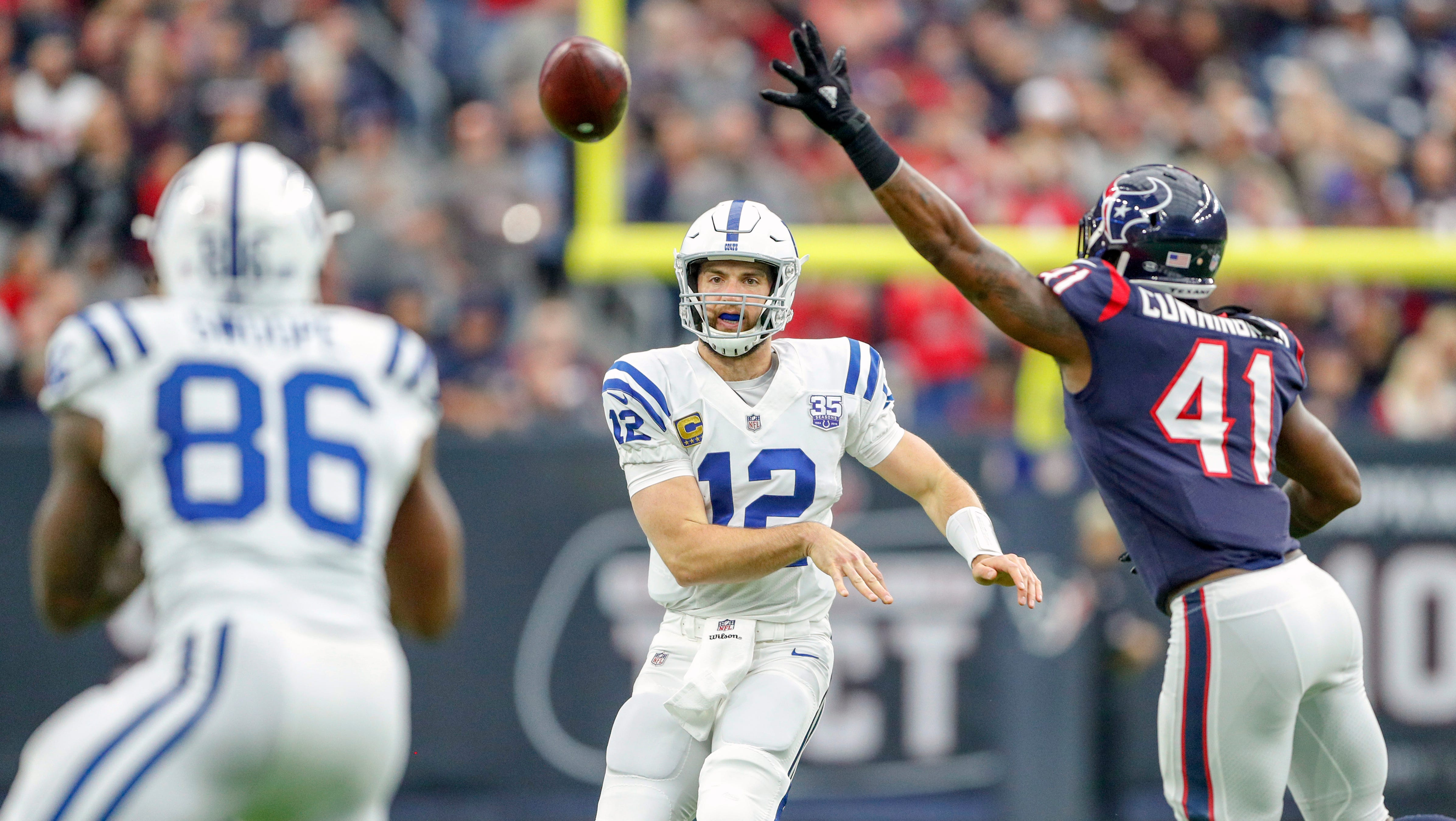 Indianapolis Colts quarterback Andrew Luck (12)...