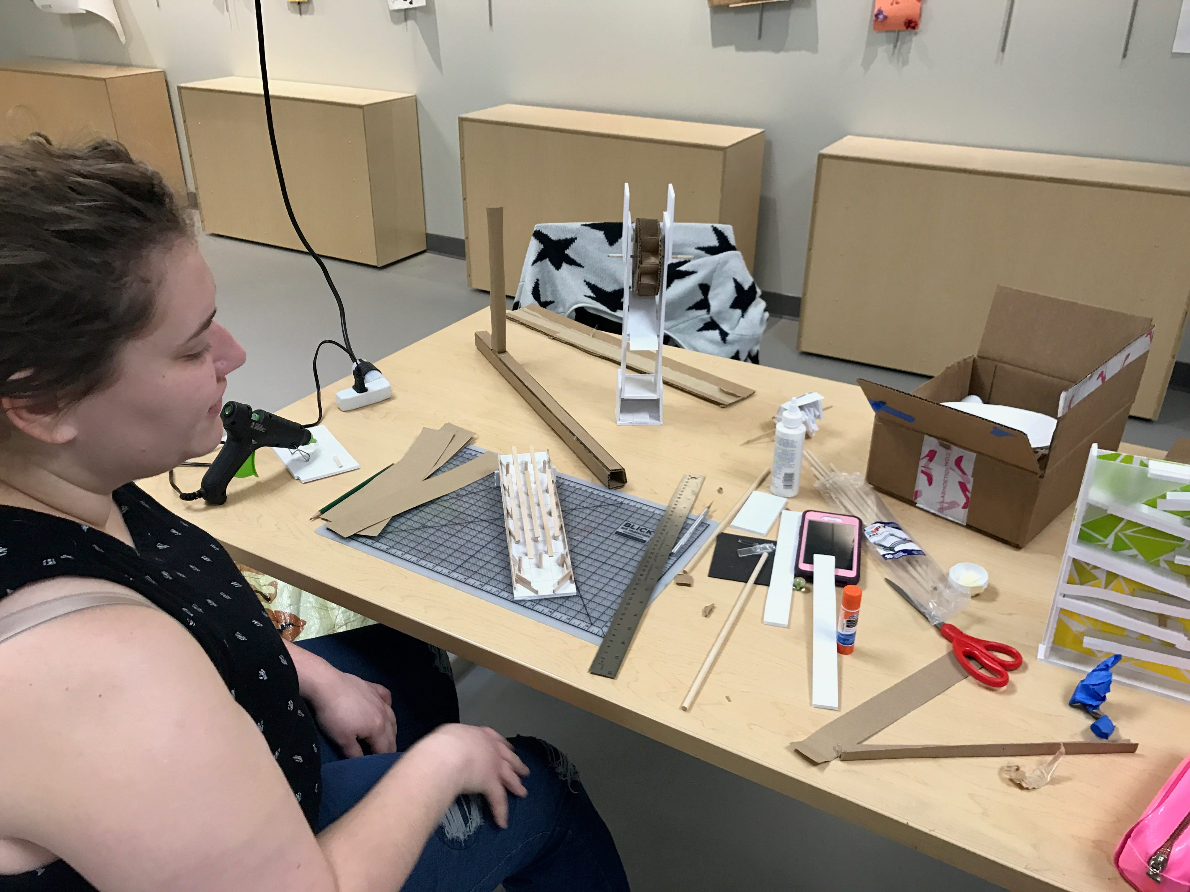 Adrianne Powell, 23, is a student at IVY Tech Community College and uses Ignite in Fishers often to work on school projects.