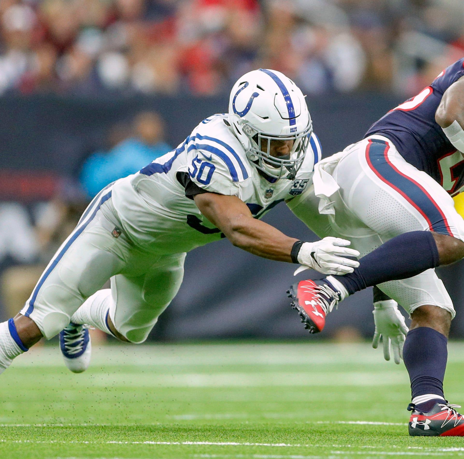 Stout Colts run defense relishes two-week test against Ezekiel Elliott, Saquon Barkley
