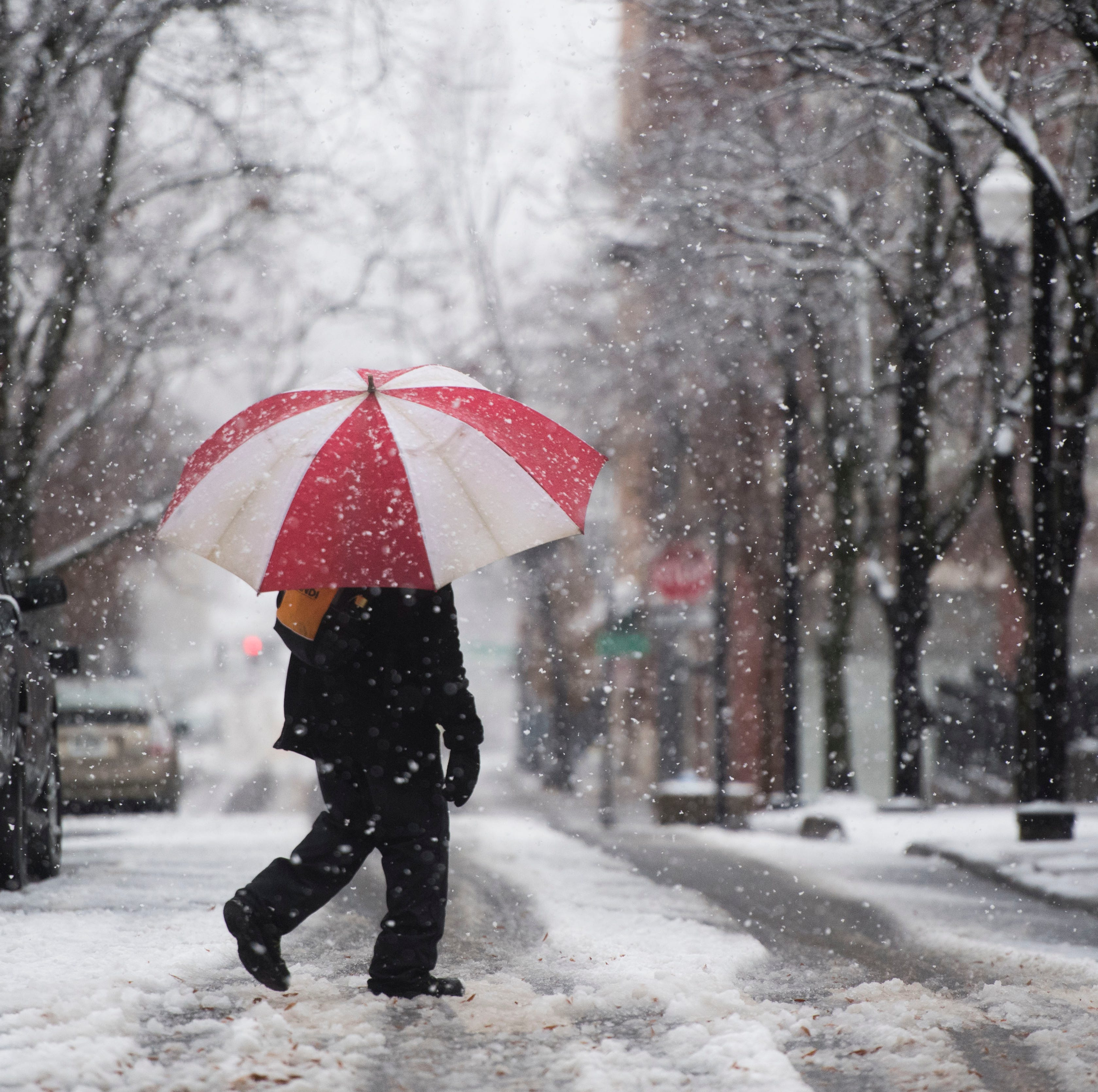 Knoxville's first snow of the season could hang around through Monday