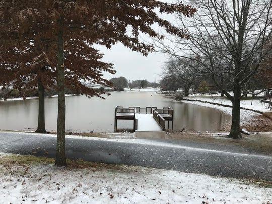 Anchor Park in Farragut got a dusting of snow on Dec. 9.
