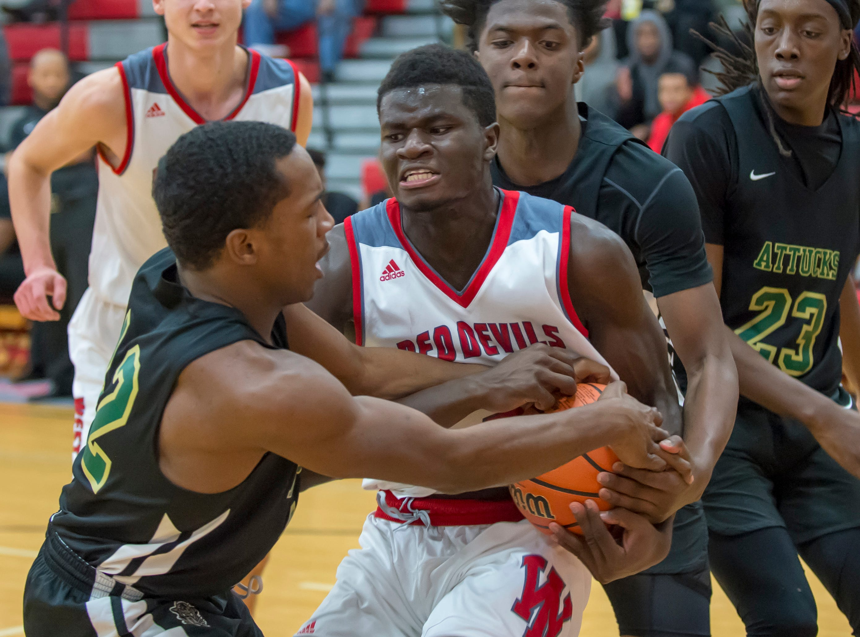 Fast start sets the tone for Harrison boys basketball victory
