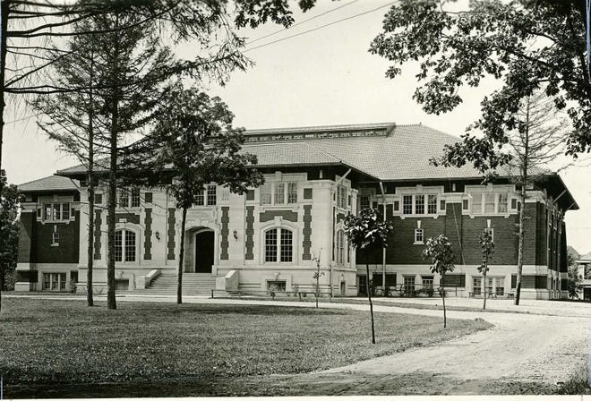 Purdue University Memorial Gymnasium - named in honor of those killed in the 1903 train wreck which killed several football players, staff and injured countless others. John Wooden played in this gym.