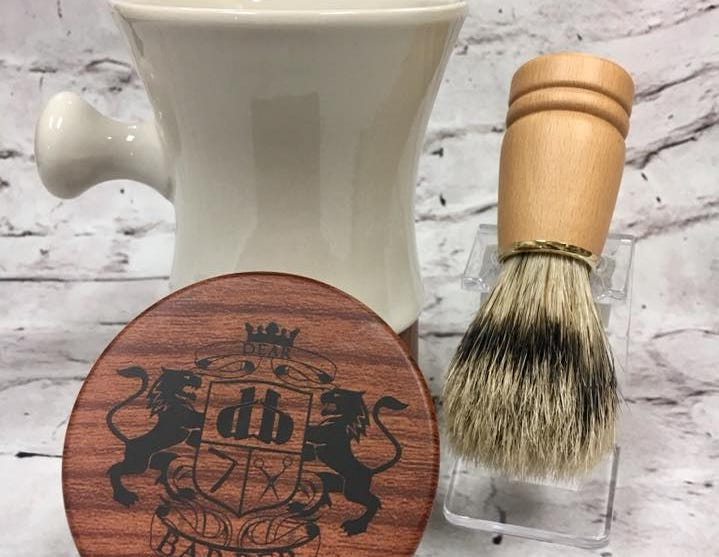 Old fashion shave soap sold at Farmer's Drugs and Gifts