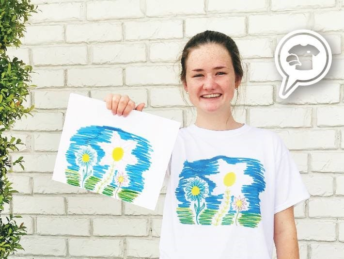 Get you child's artwork printed on a t-shirt this season at Absolutely Custom Apparel & Graphics