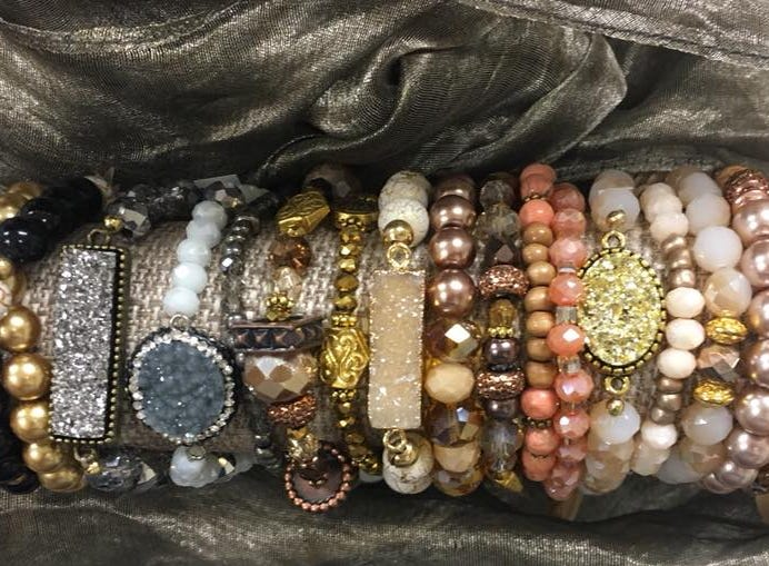 Bracelets are a sweet gift for the ladies on your list; try one of these from Farmer's Drugs and Gifts.