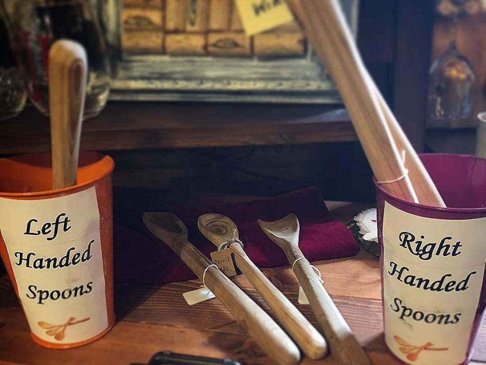 Unique handmade spoons sold at Artique