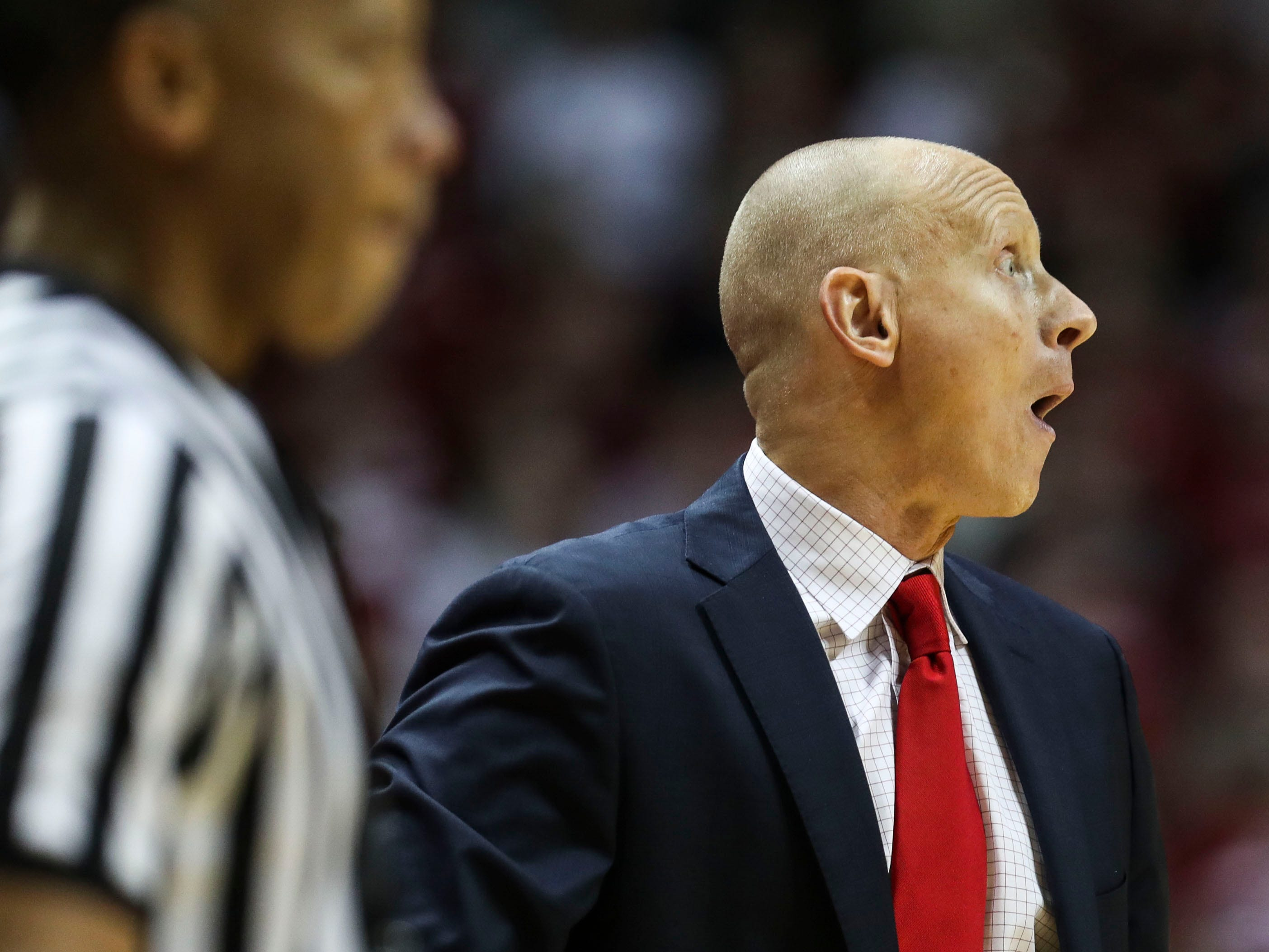 """I'd be lying if I felt like we didn't have an opportunity to win and didn't take advantage of it,"" said Louisville's Chris Mack afterwards during the loss at Indiana the second half Saturday, Dec. 8, 2018."