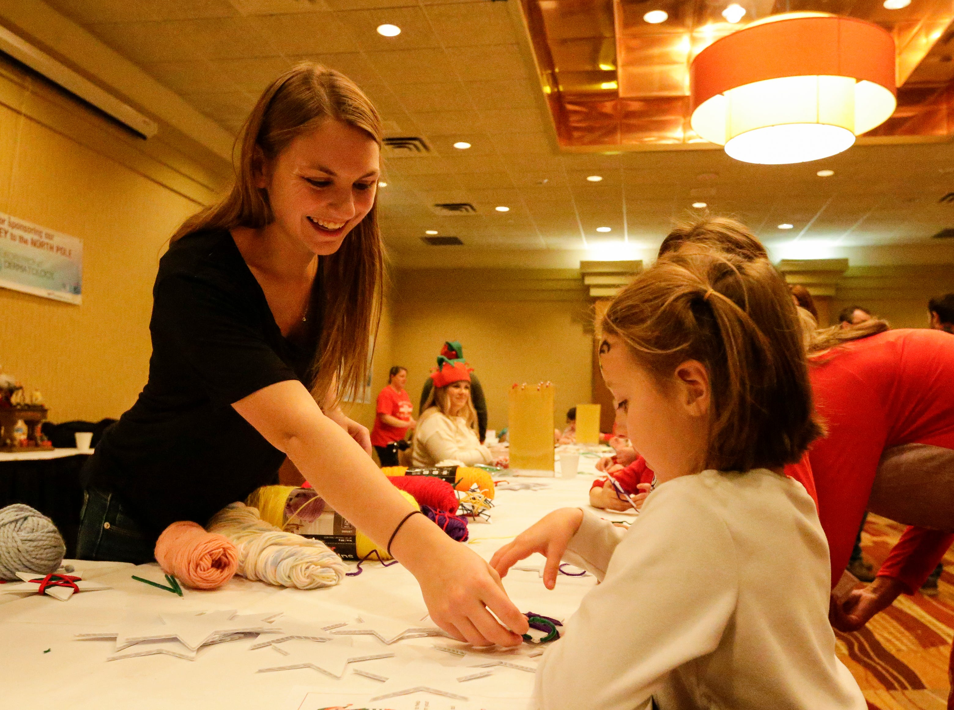 The arts and crafts table at Santa's North Pole at the Holiday Inn Saturday, December 8, 2018, in Manitowoc, Wis. Joshua Clark/USA TODAY NETWORK-Wisconsin