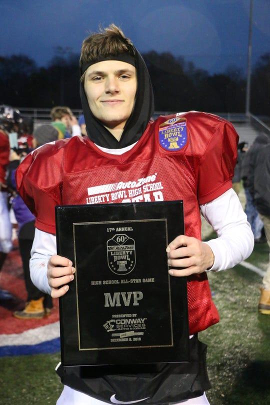 ECS' Dawson Williams won the 2018 AutoZone Liberty Bowl HS All-Star Game MVP Award