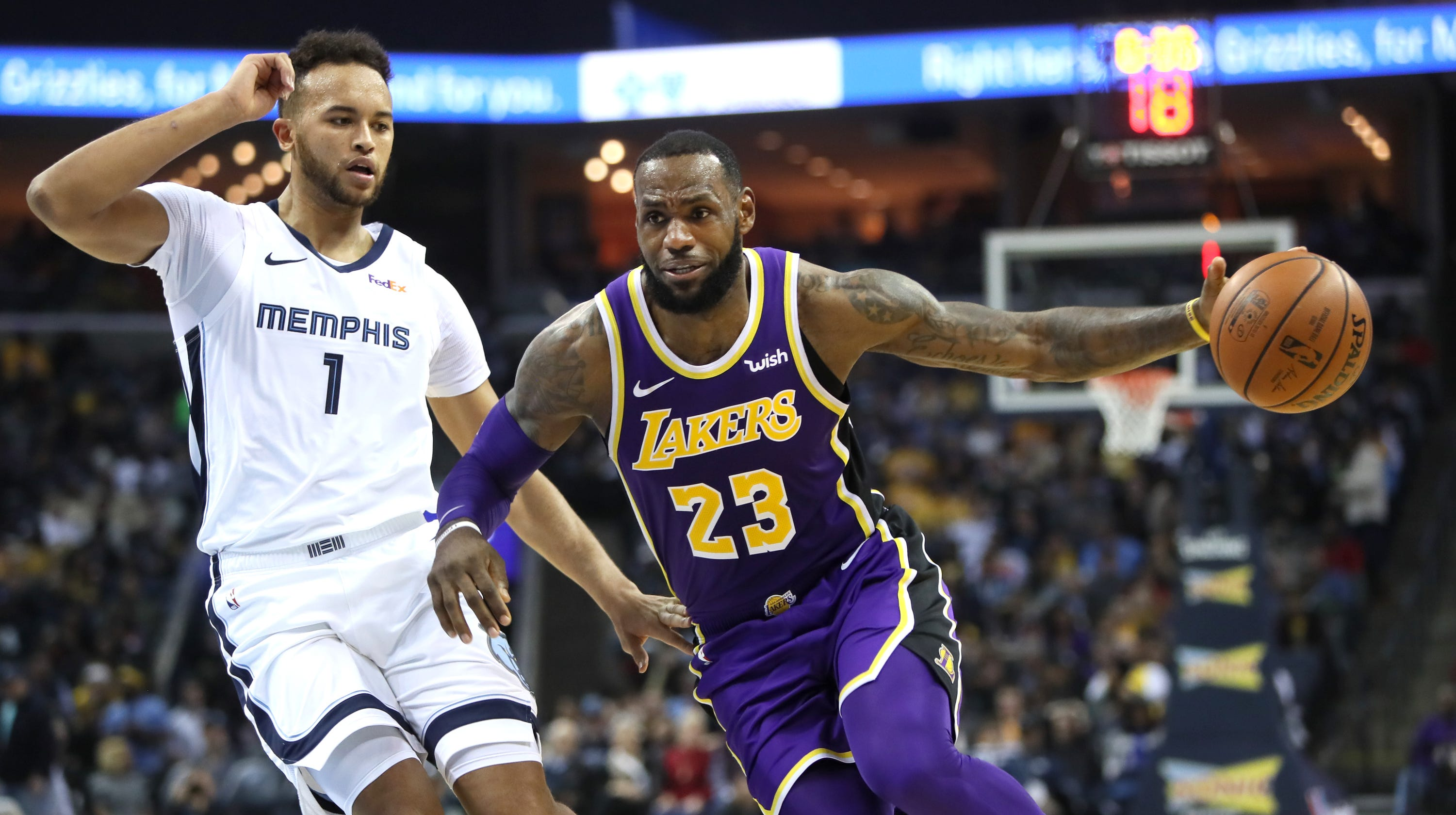 be1cc765438f LeBron James  Ticket prices cheap for Memphis Grizzlies vs. Lakers