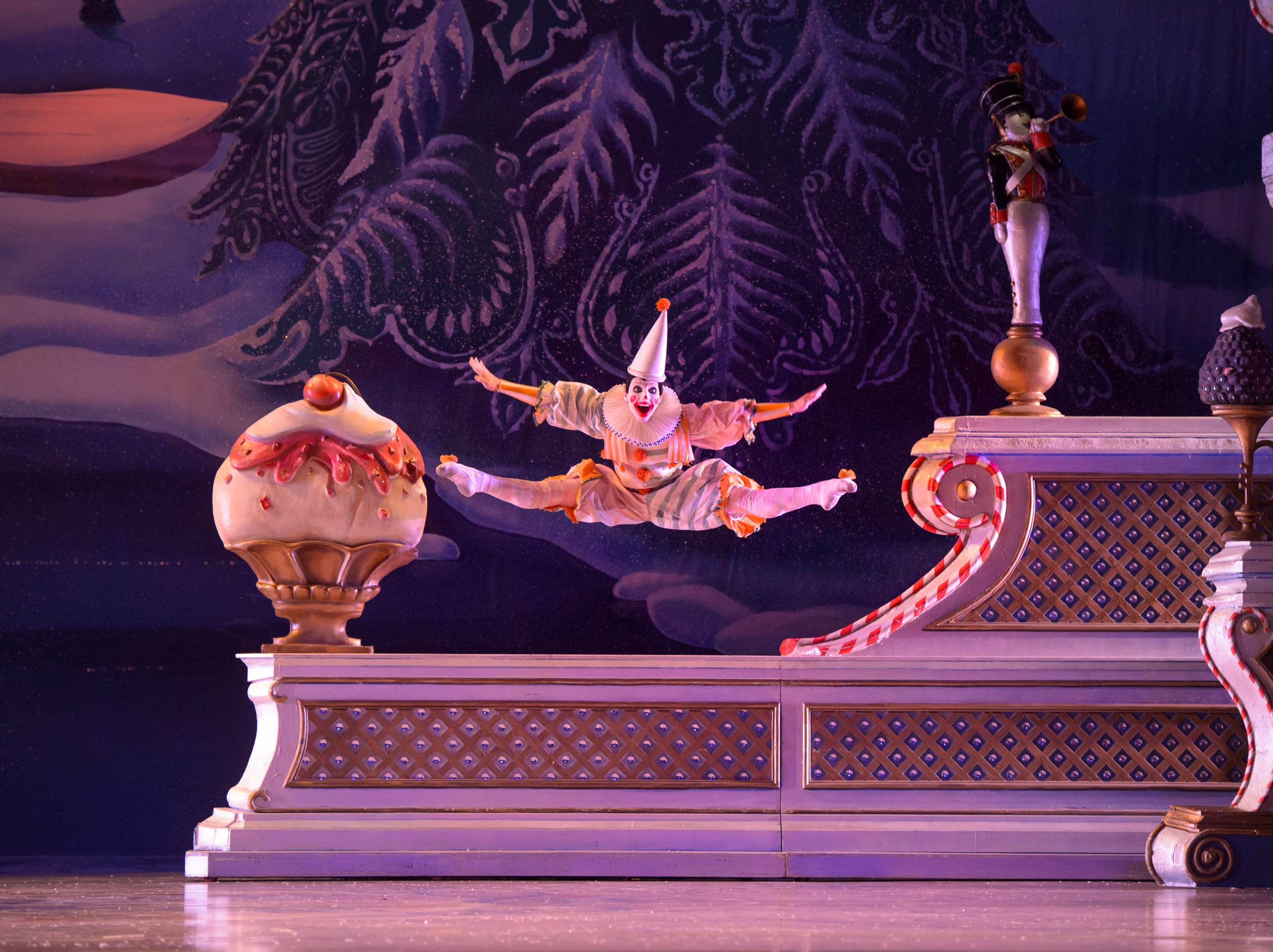 "Justin Geiss approaches escape velocity in Milwaukee Ballet's ""Nutcracker"" through Dec. 26 at the Marcus Center."