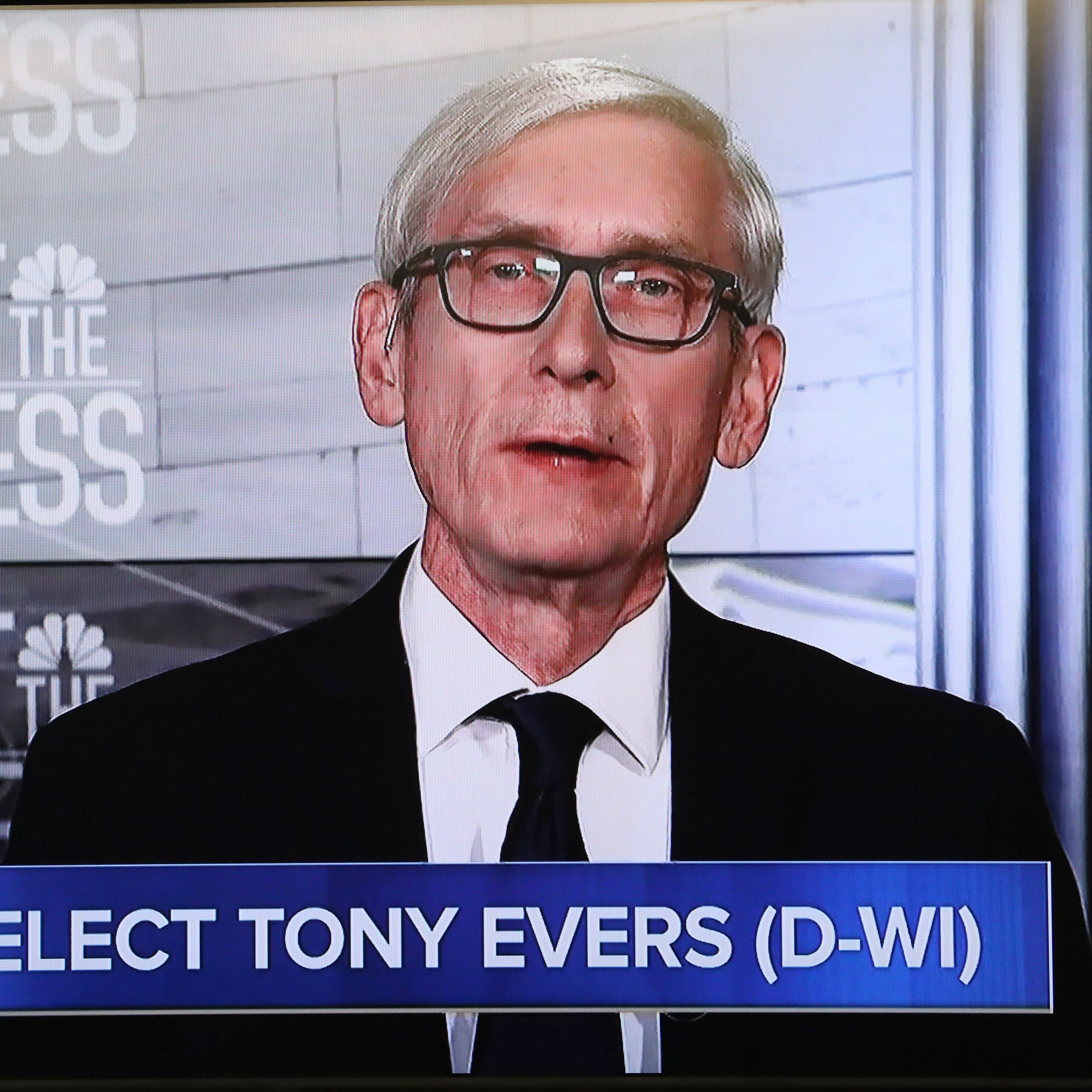 'It's a hot mess': Tony Evers urges Scott Walker to veto GOP lame duck proposals limiting his powers on 'Meet the Press'