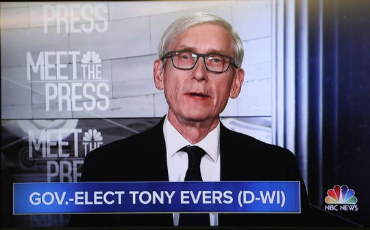 "Gov.-elect Tony Evers, appearing on NBC's ""Meet the Press"" Sunday, criticized the lame-duck legislation passed by Republicans in the Legislature last week that would limit his powers."