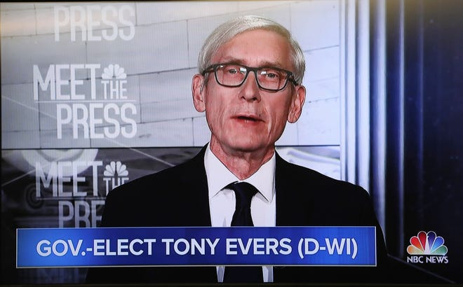 "Gov.-elect Tony Evers, appearing on NBC's ""Meet the Press"" Sunday, criticized the lame-duck legislation passed by Republicans in the Legislature last week that would limit his powers. He called on Gov. Scott Walker to veto the legislation."