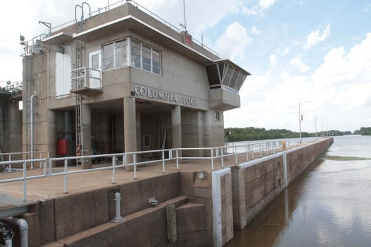 The Columbia lock and dam, as shown in this 2014 photo, is one of four on the Ouachita River.