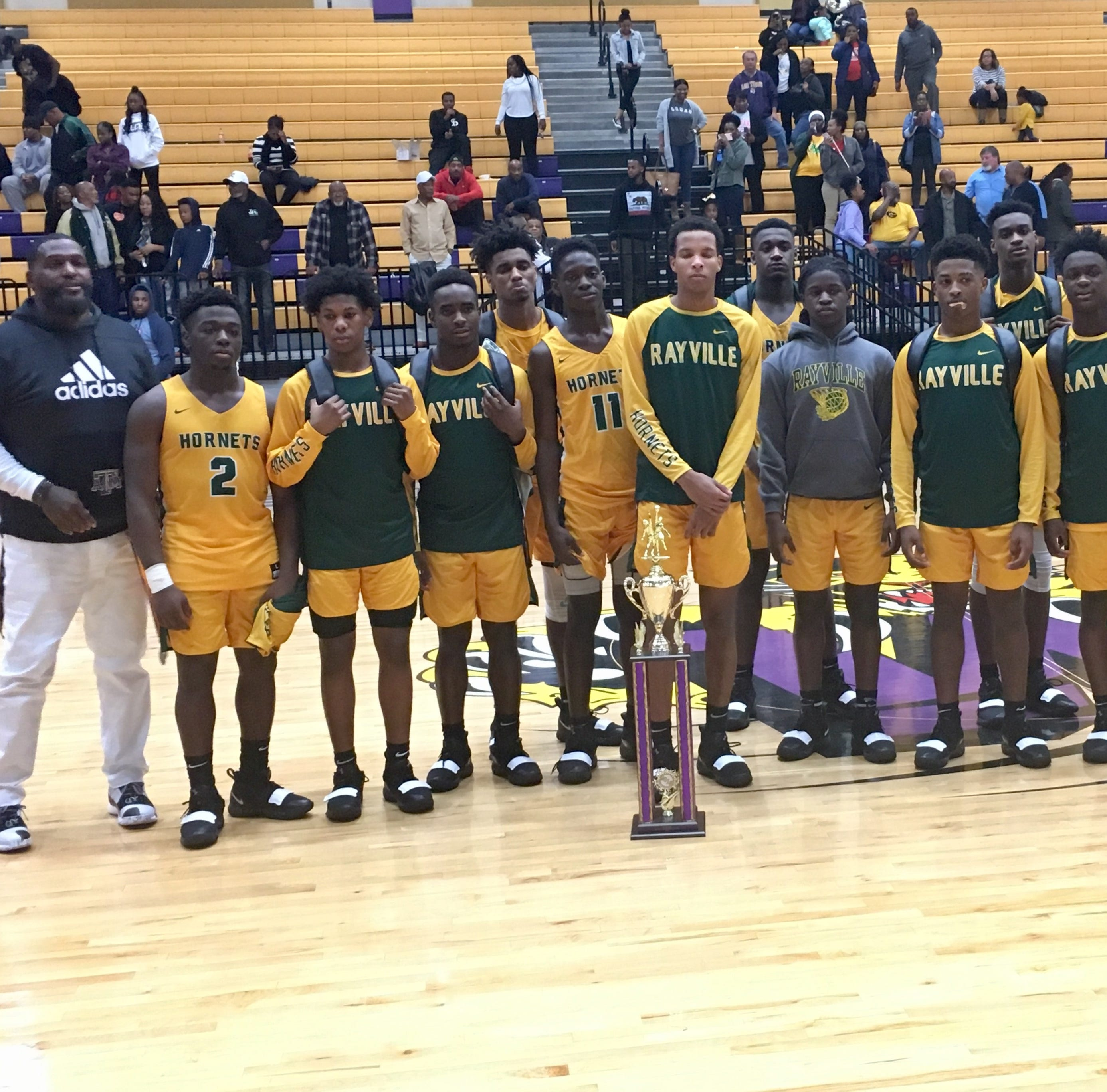 The Rayville Hornets won the the 2018 George Belton/Pat Williams Boys Basketball Classic after their 95-81 victory over the Wossman Wildcats at Wossman's George Belton Sports Complex on Saturday night.