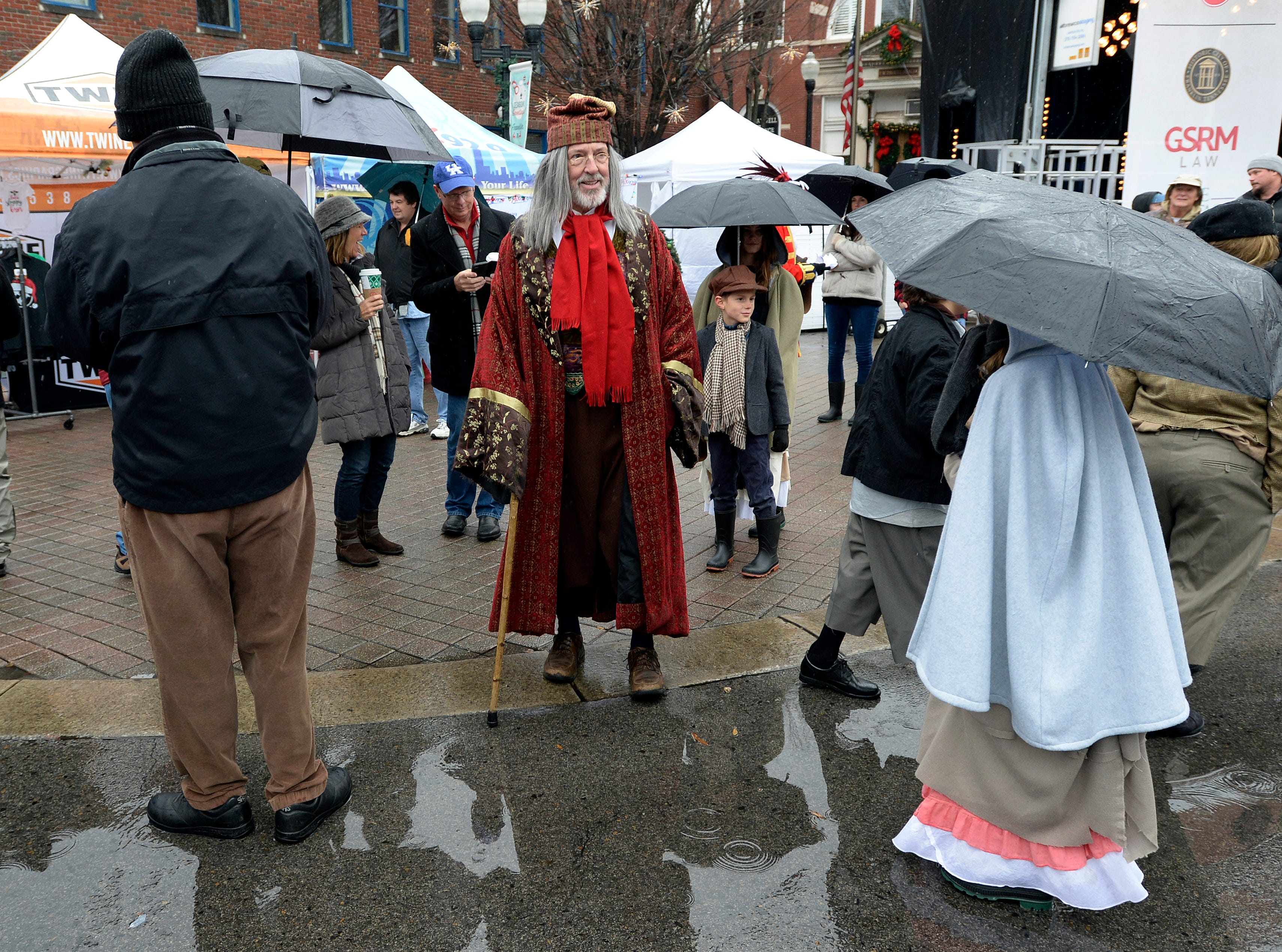 A festive atmosphere persisted through dreary weather at the Dickens of a Christmas on Saturday, Dec. 8, 2018, in Franklin, Tenn.