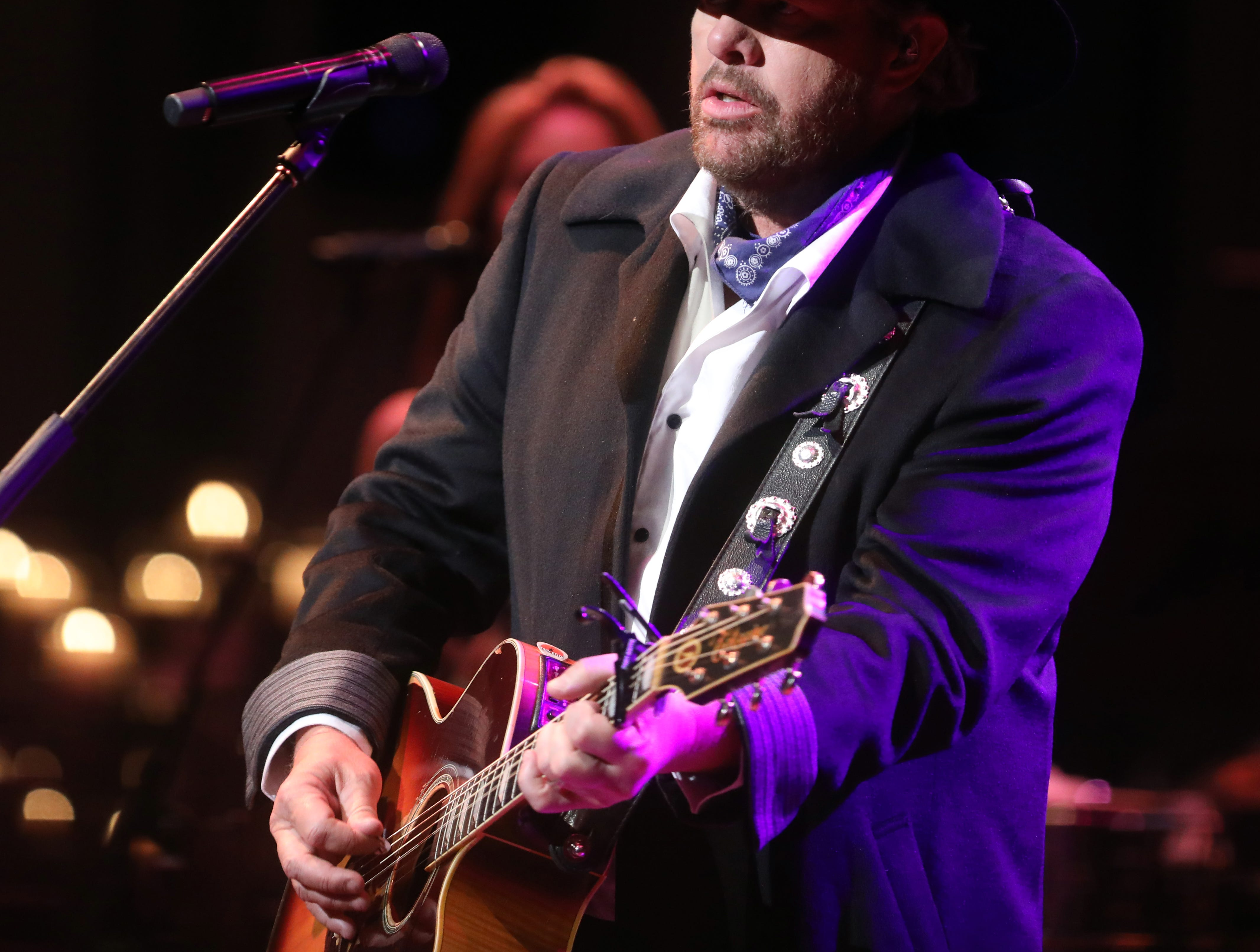 Toby Keith performs at the 34th annual Symphony Ball on Saturday, December 8, 2018, at Schermerhorn Symphony Center.