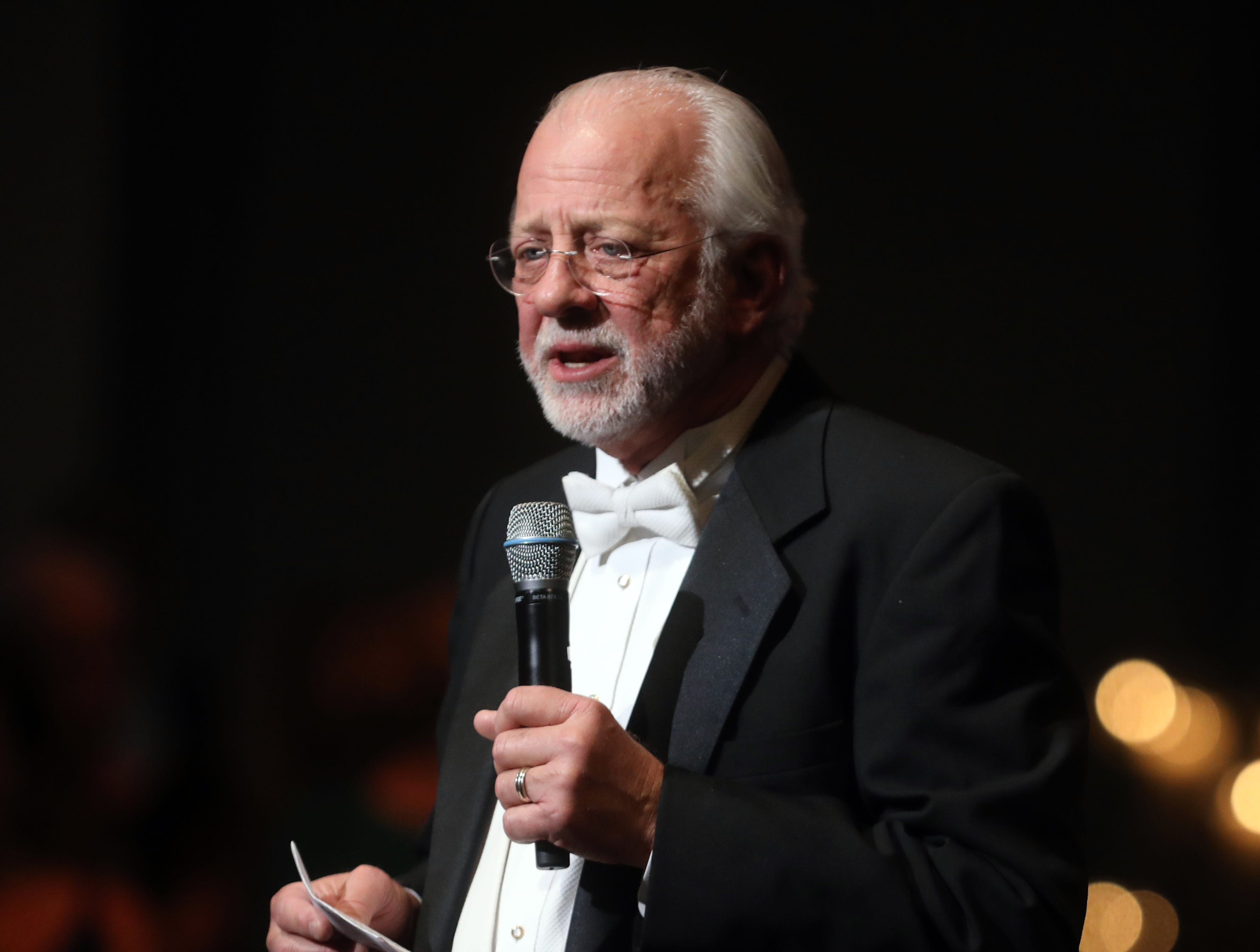 Alan Valentine speaks at the 34th annual Symphony Ball on Saturday, December 8, 2018, at Schermerhorn Symphony Center.