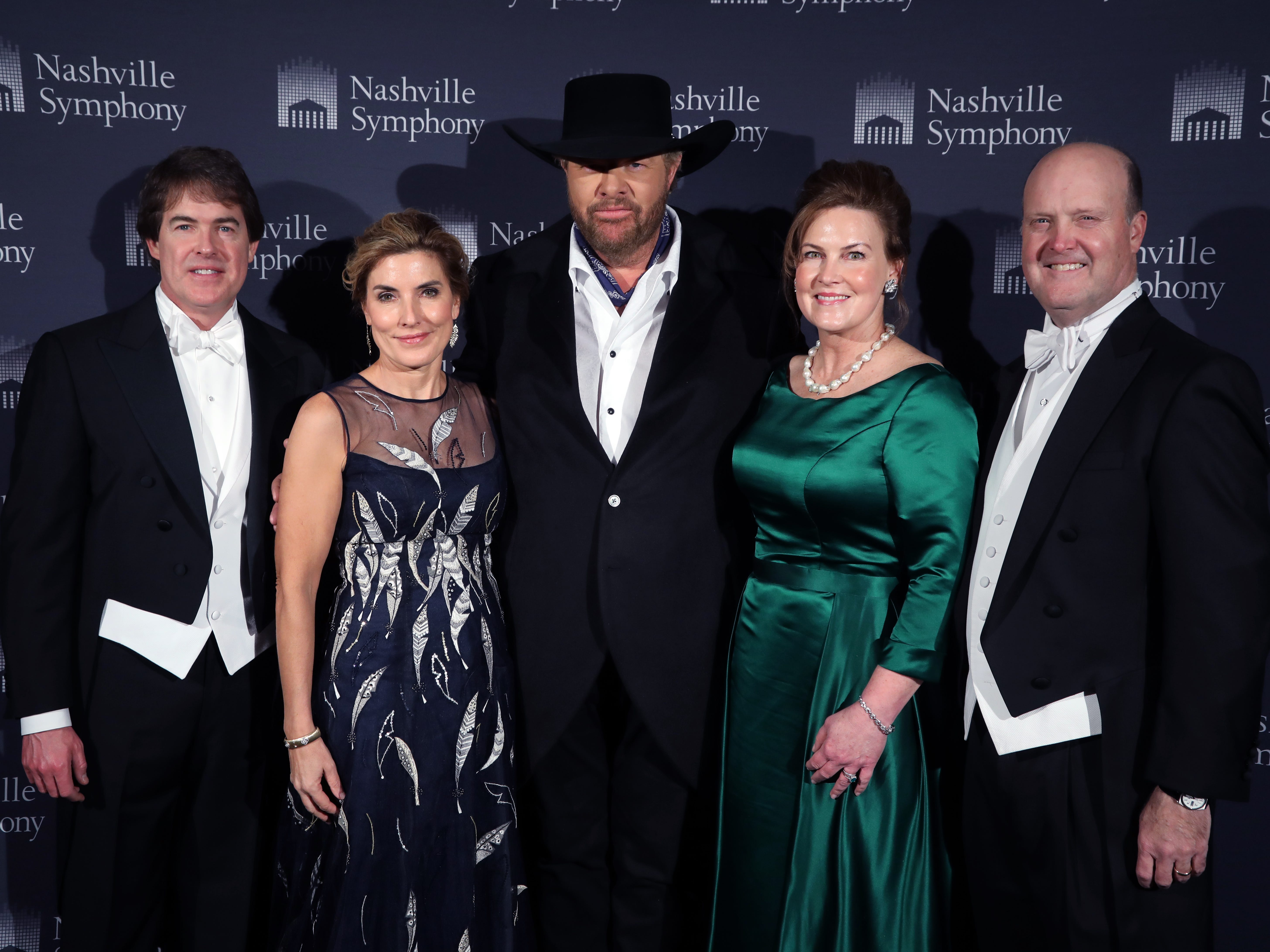 Kevin and Katie Crumbo, Toby Keith, Laurie and Jim Seabury at the 34th annual Symphony Ball on Saturday, December 8, 2018, at Schermerhorn Symphony Center.