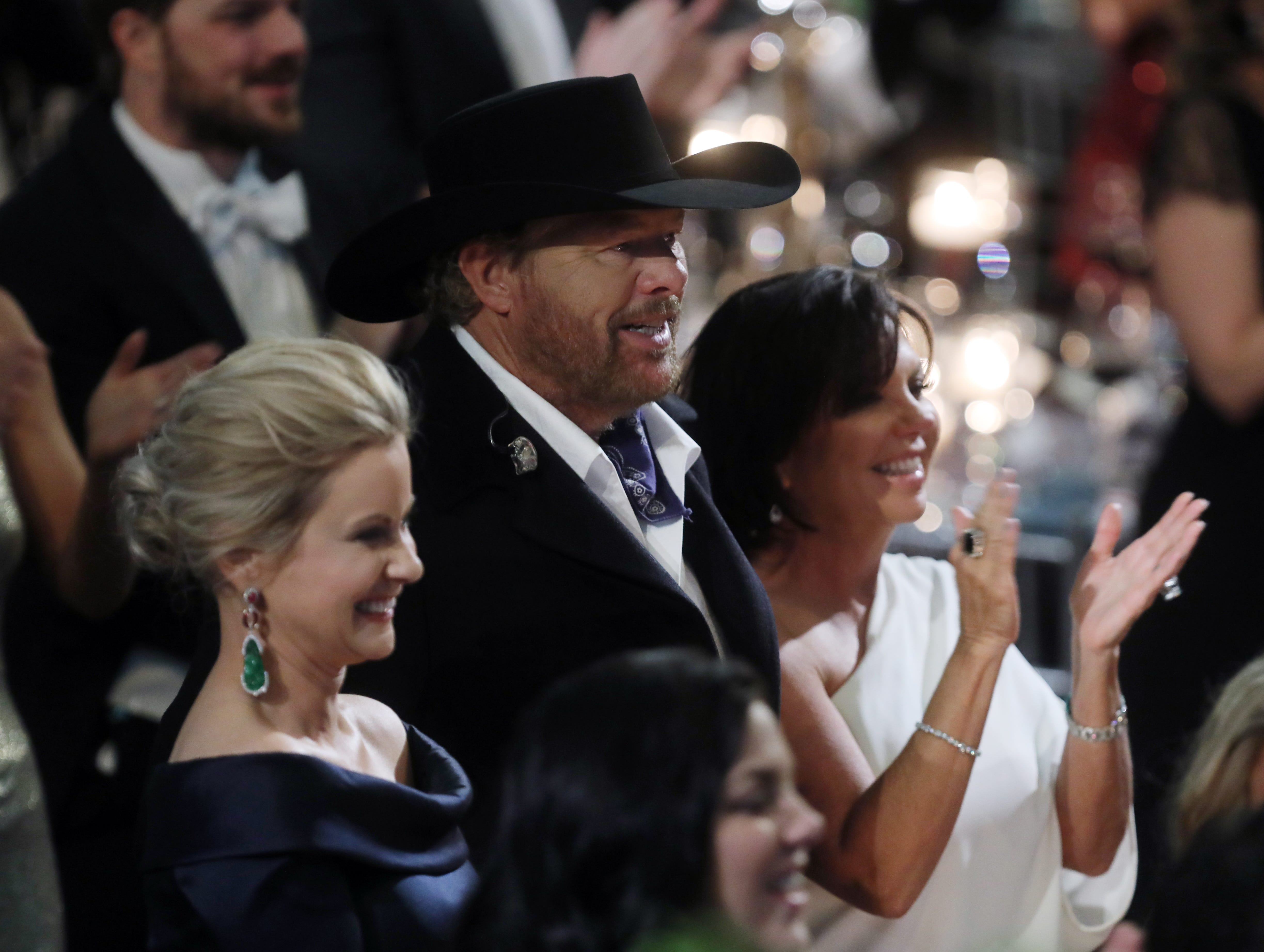 Laura Kimbrell, Toby Keith and Tricia Keith at the 34th annual Symphony Ball on Saturday, December 8, 2018, at Schermerhorn Symphony Center.