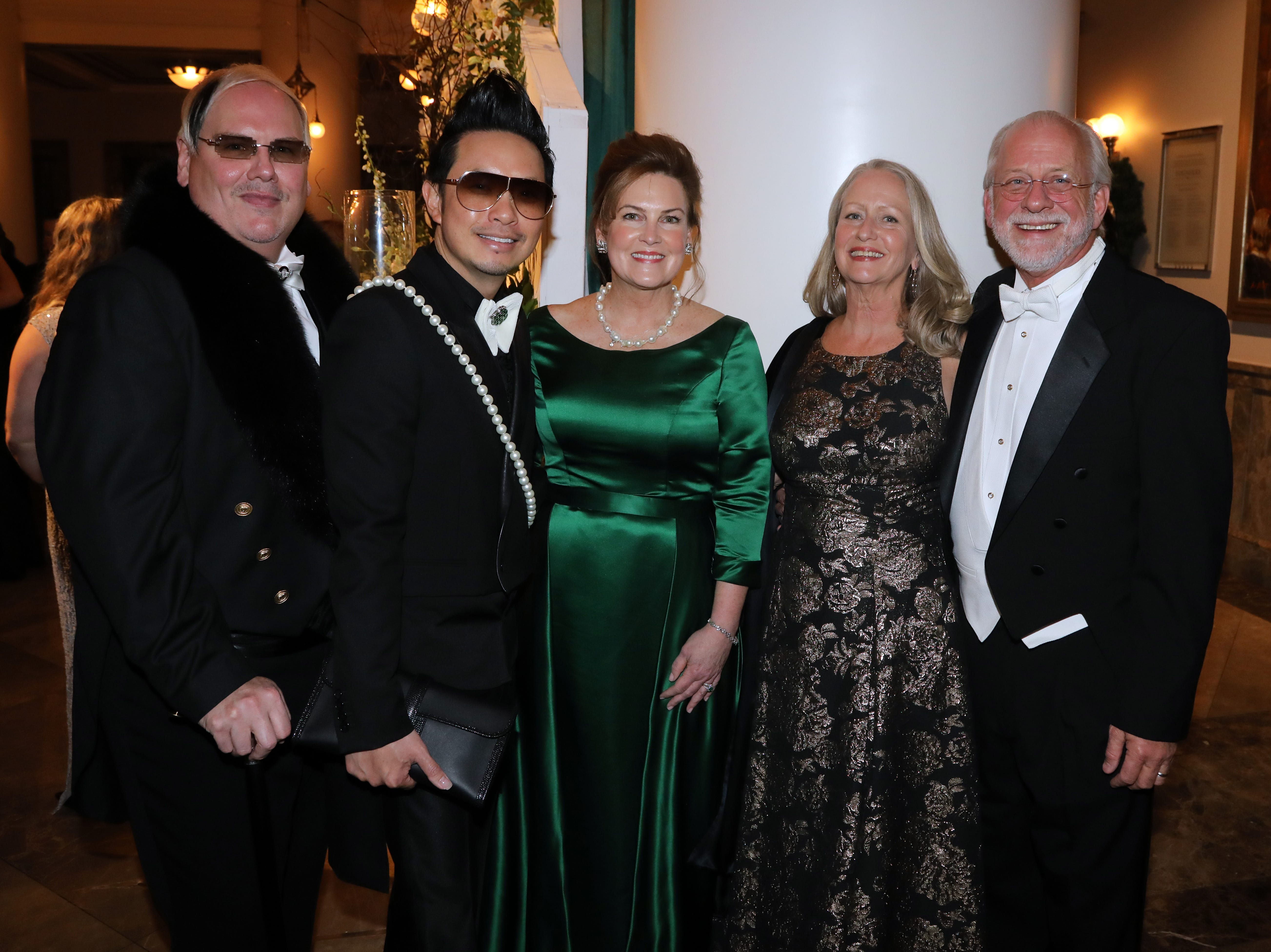 Johnathon and Newman Arndt, Laurie Seabury, Jan and Alan Valentine at the 34th annual Symphony Ball on Saturday, December 8, 2018, at Schermerhorn Symphony Center.