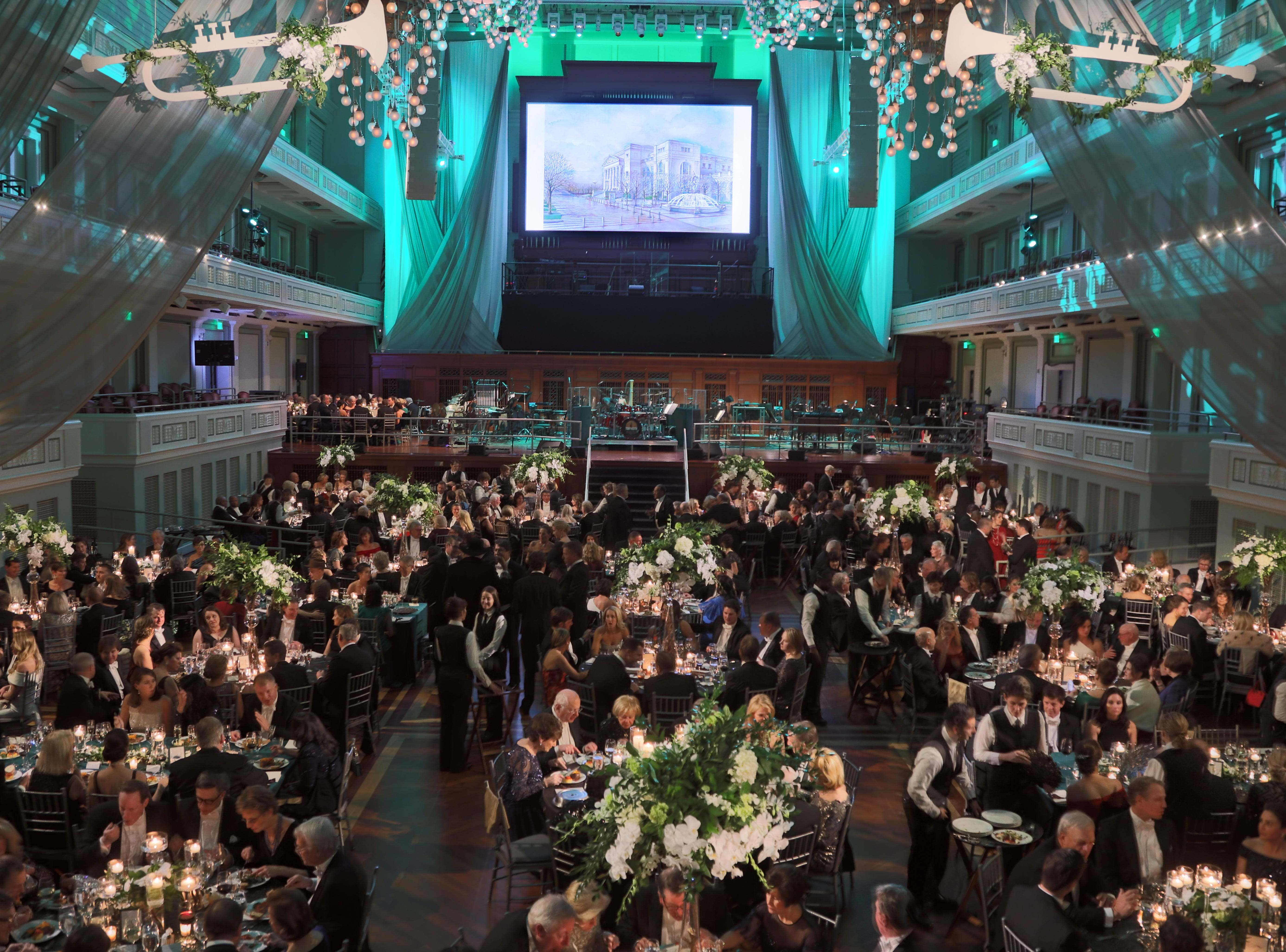 Guests are seated for dinner at the 34th annual Symphony Ball on Saturday, December 8, 2018, at Schermerhorn Symphony Center.