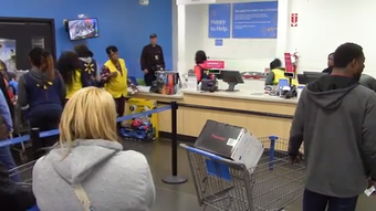 Entertainer Kid Rock surprised customers at the Dickerson Pike Walmart store in Nashville by paying off their layaway accounts on Friday.