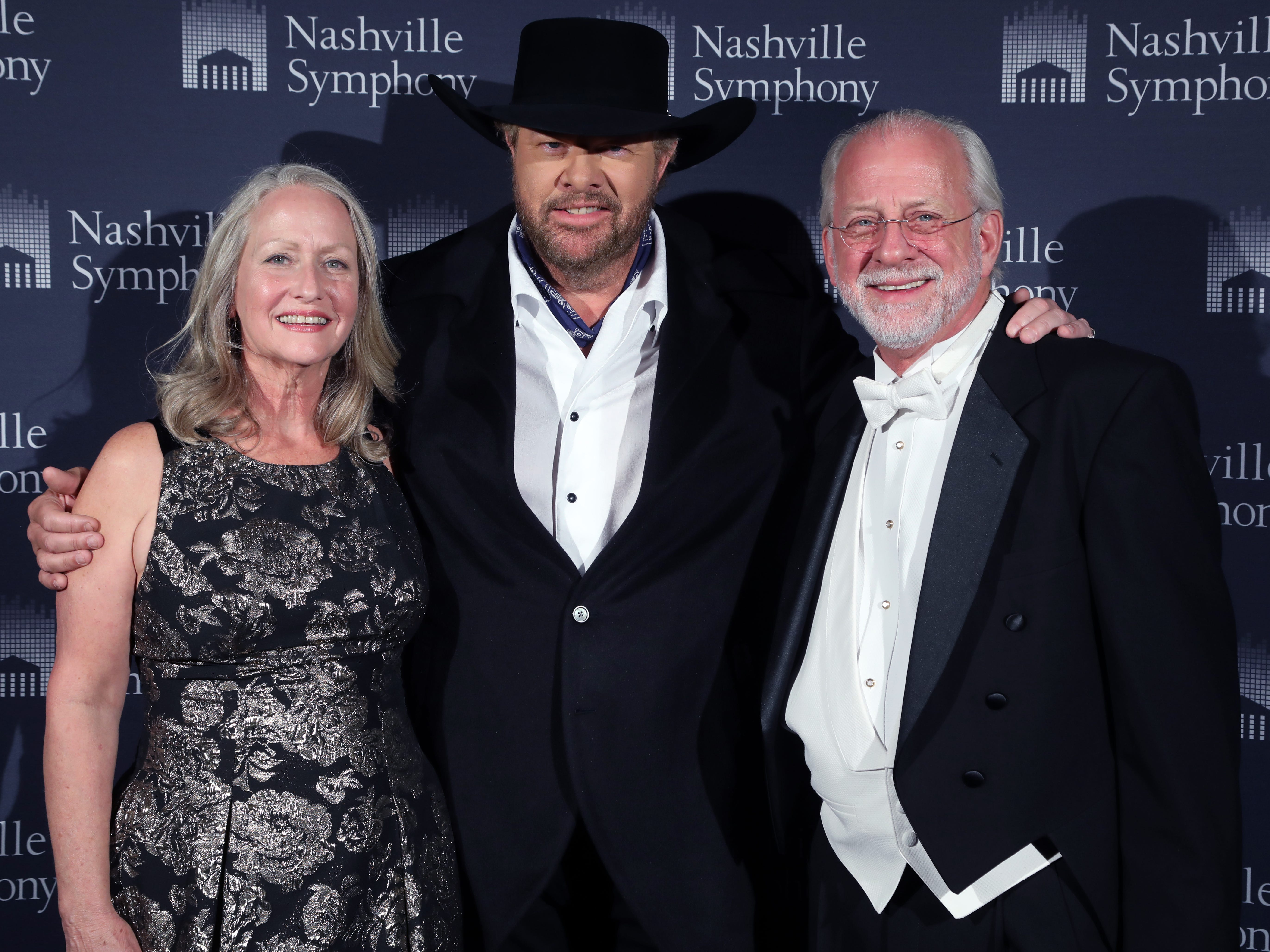 Jan Valentine, Toby Keith, Alan Valentine at the 34th annual Symphony Ball on Saturday, December 8, 2018, at Schermerhorn Symphony Center.
