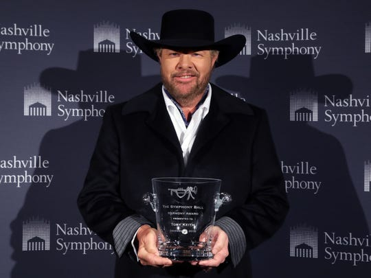 Toby Keith at the 34th annual Symphony Ball on Saturday, December 8, 2018, at Schermerhorn Symphony Center.
