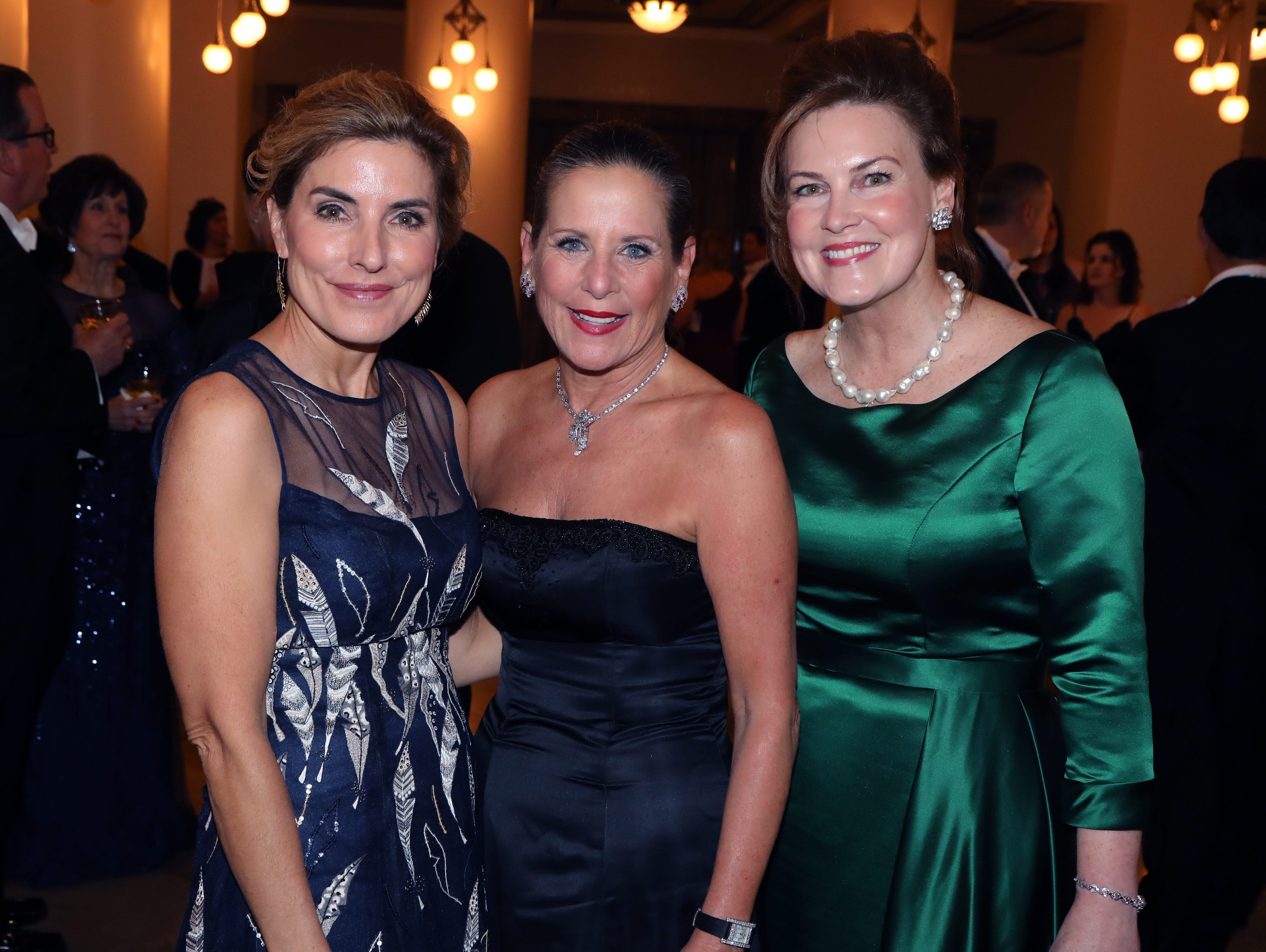 Katie Crumbo, Julie Boehm, Laurie Seabury at the 34th annual Symphony Ball on Saturday, December 8, 2018, at Schermerhorn Symphony Center.