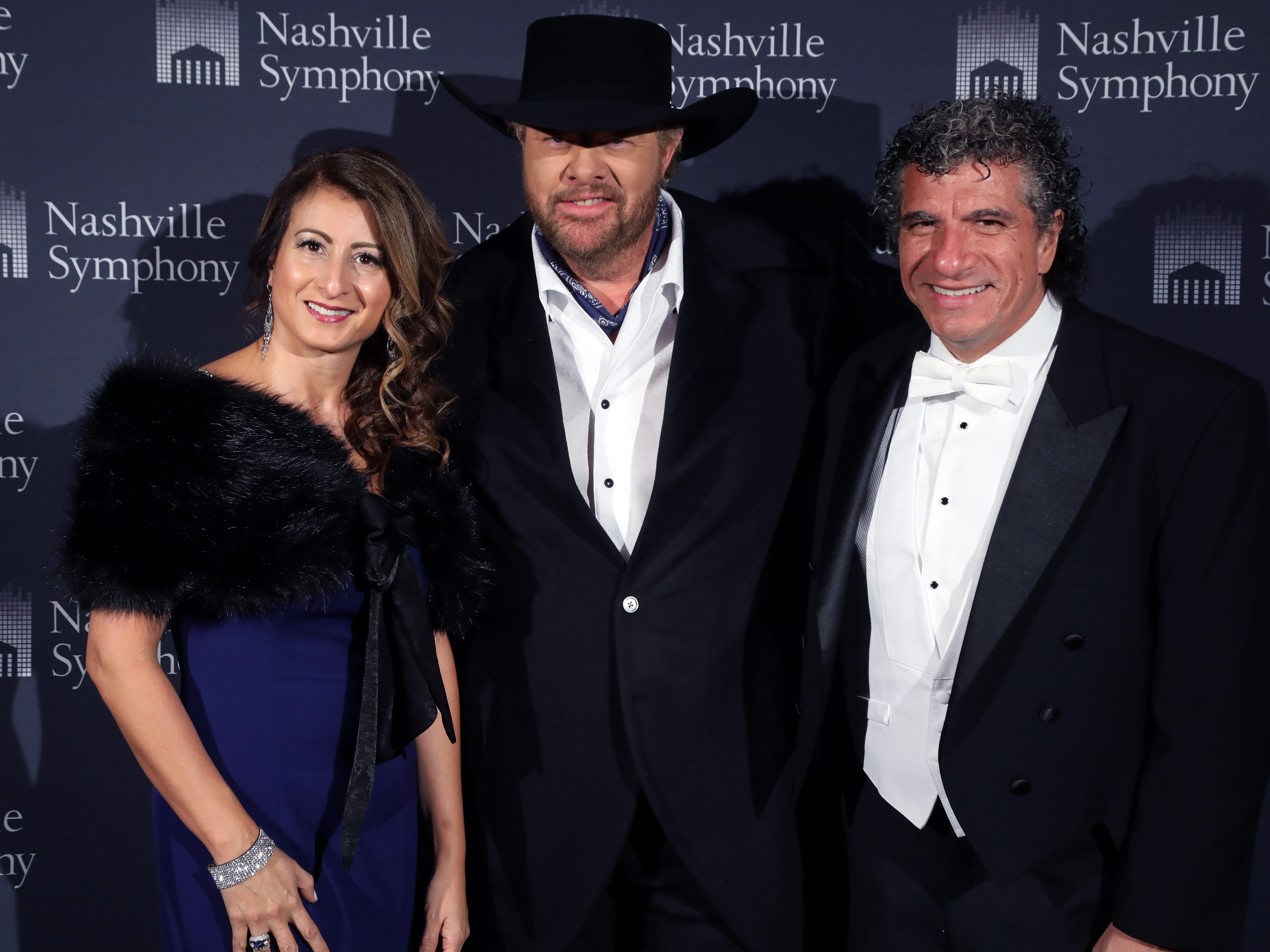 Shirley Guerrero, Toby Keith, Giancarlo Guerrero at the 34th annual Symphony Ball on Saturday, December 8, 2018, at Schermerhorn Symphony Center.
