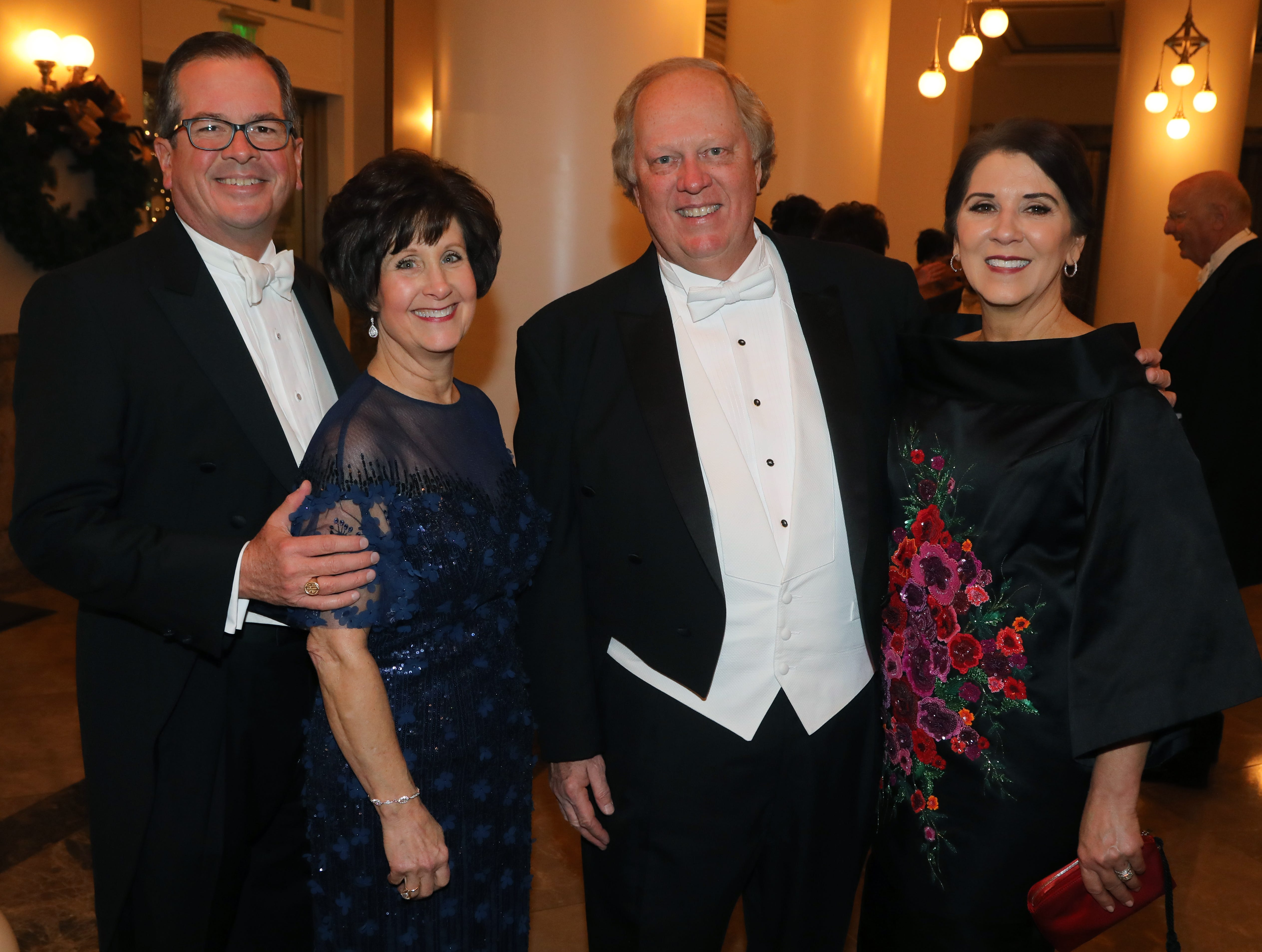 Ed and Nancy Goodrich, David and Janice Elliot Morgan at the 34th annual Symphony Ball on Saturday, December 8, 2018, at Schermerhorn Symphony Center.