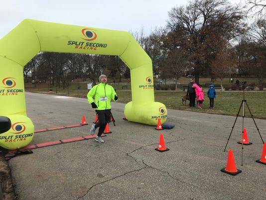 Chanukah 5k finish line