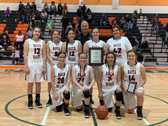 The Hatch Valley girls basketball team won the Wingate Tournament championship on Saturday.