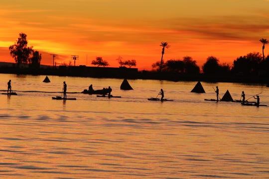 The inaugural IRONMAN 70.3 Indian Wells La Quinta began at Lake Cahuilla and ended at the Indian Wells Tennis Garden.
