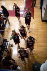 In this file photo, The Gettysburg Lady Warriors walk to the lockerroom for halftime during the championship game between New Oxford and Gettysburg at the New Oxford Girls Basketball Tip-Off Tournament, Saturday, Dec. 8, 2018, in New Oxford. The Gettysburg Lady Warriors defeated the New Oxford Lady Colonials 47-40.