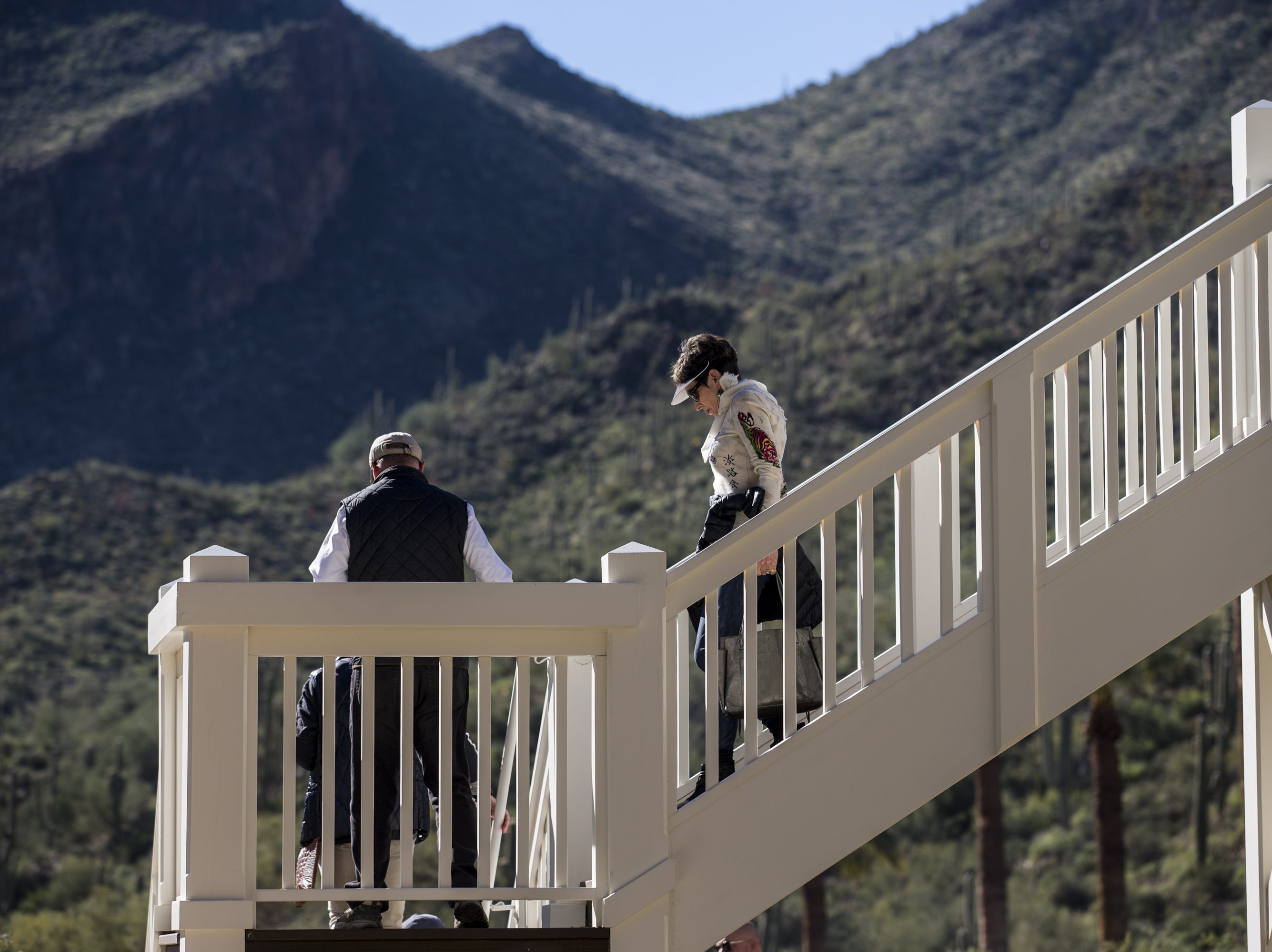 People tour the newly renovated Castle Hot Springs resort on Saturday, Dec. 8, 2018, in Morristown, Ariz. It has been 50 years since the resort has hosted any guests.