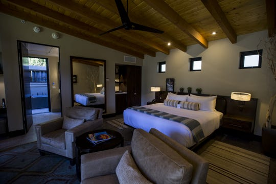 A room at the newly renovated Castle Hot Springs resort is pictured on Saturday, Dec. 8, 2018, in Morristown, Ariz. It has been 50 years since the resort has hosted any guests.