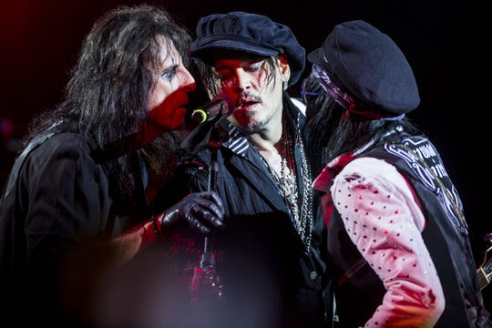 Hollywood Vampires performs during the 17th annual Alice Cooper's Christmas Pudding concert on Saturday, Dec. 8, 2018, at Celebrity Theatre in Phoenix.