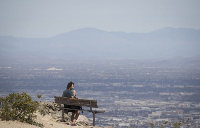 Phoenix, Dec. 5, 2018, from Dobbins Lookout at South Mountain Park.